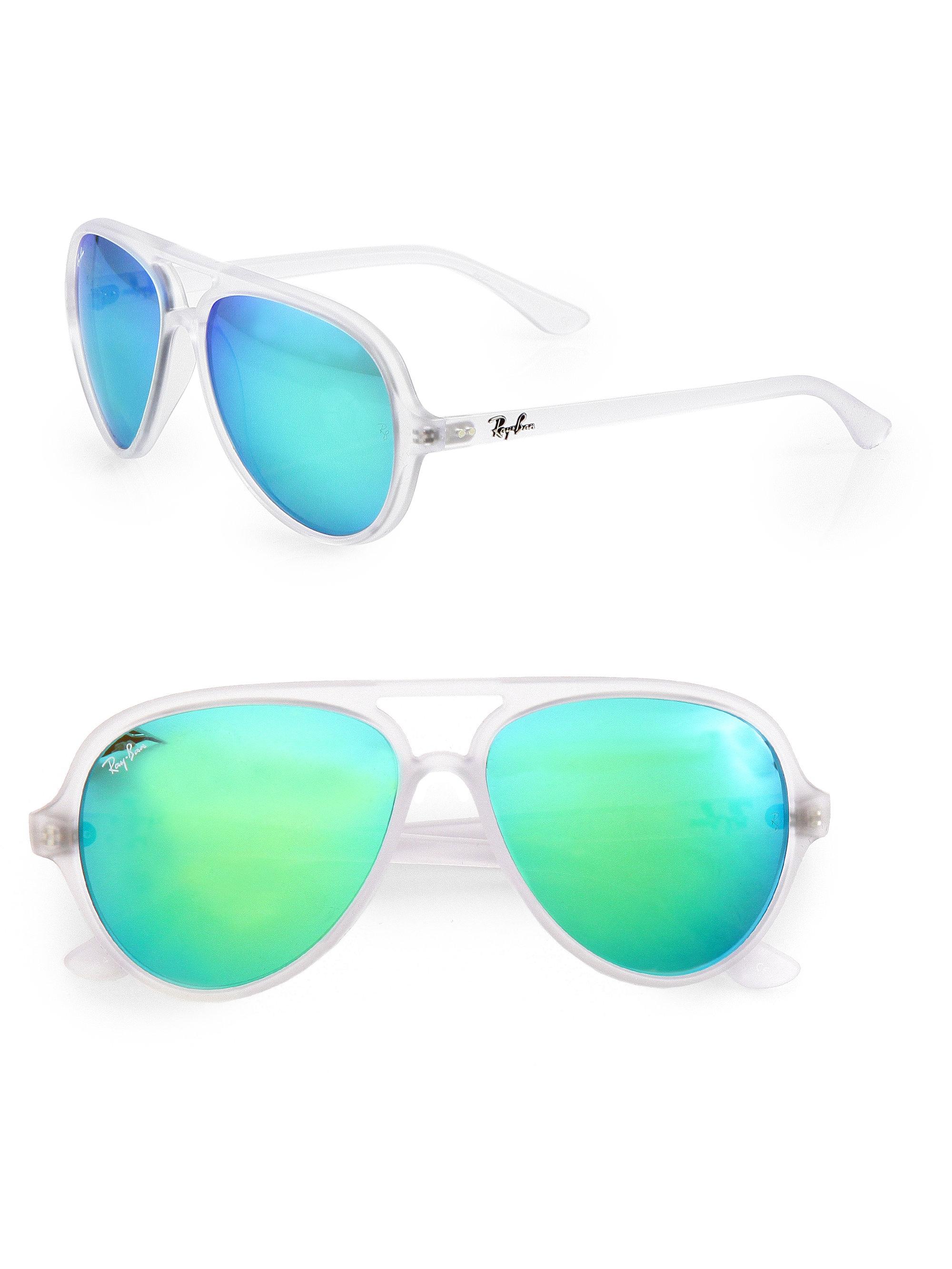Rayban Sunglasses Blue  ray ban double bridge aviator sunglasses in blue for men lyst