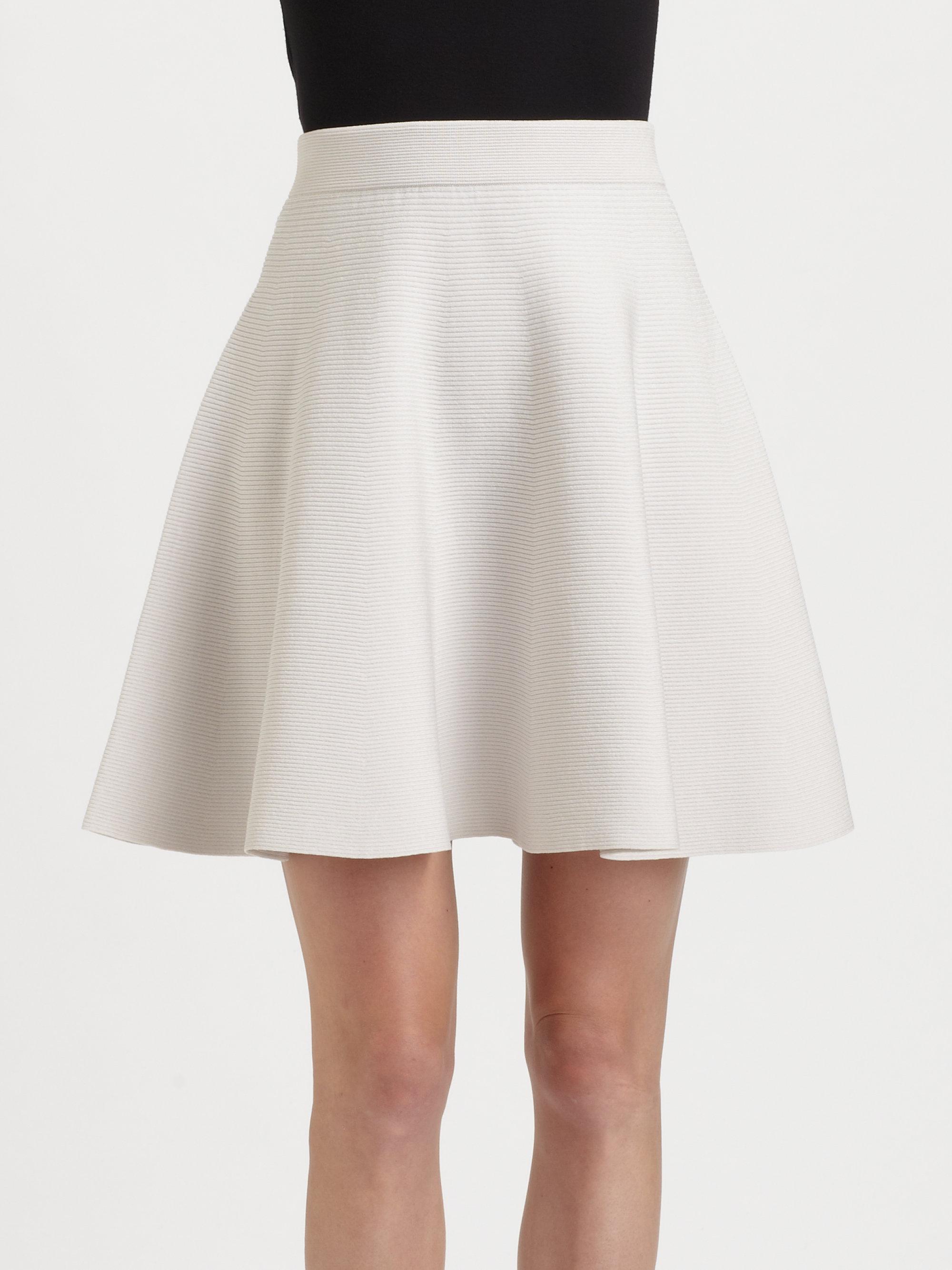 White Flare Skirt - Skirts