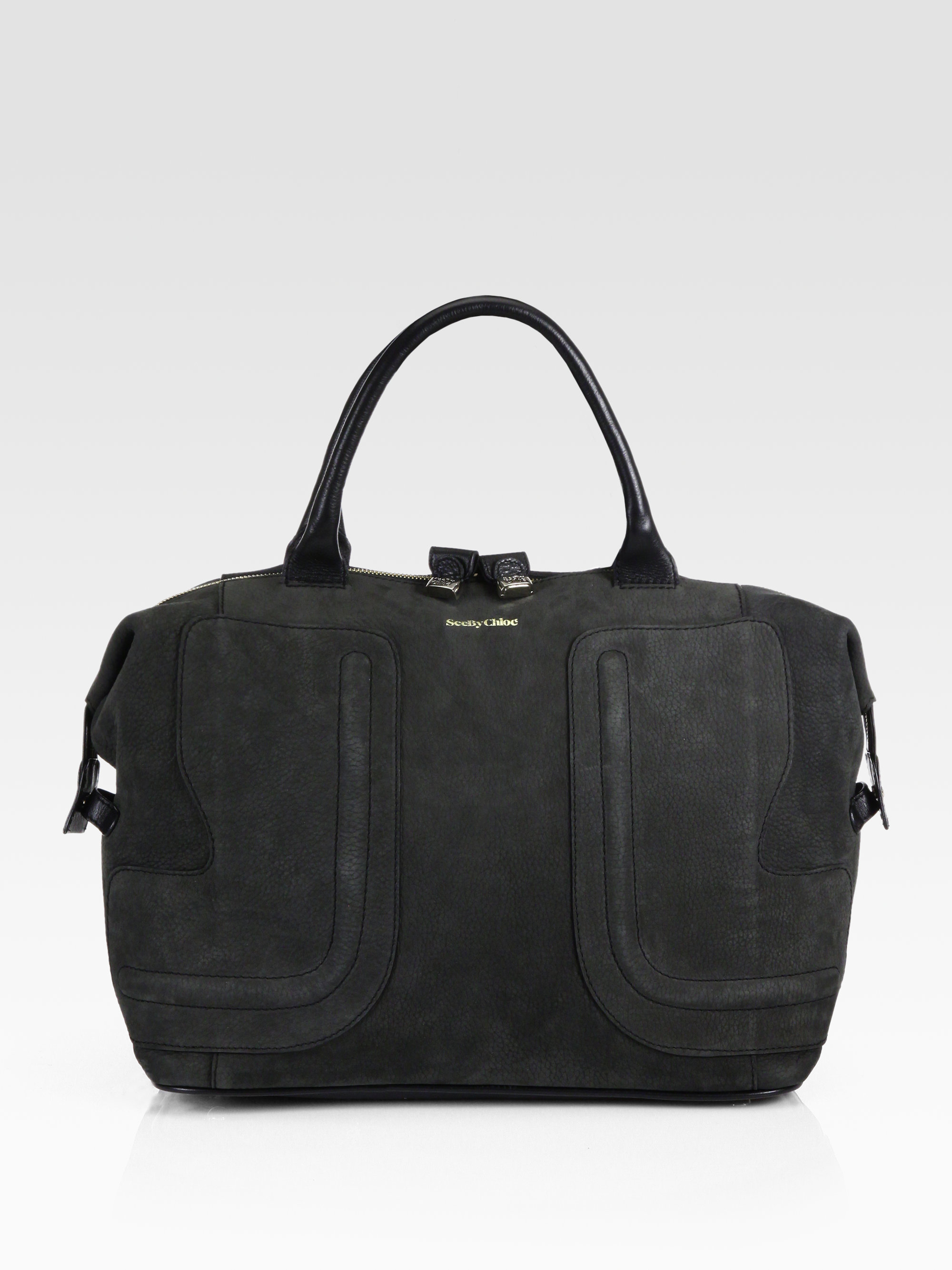 0f3565f9301a2 Lyst - See By Chloé Kay Suede Tote in Black