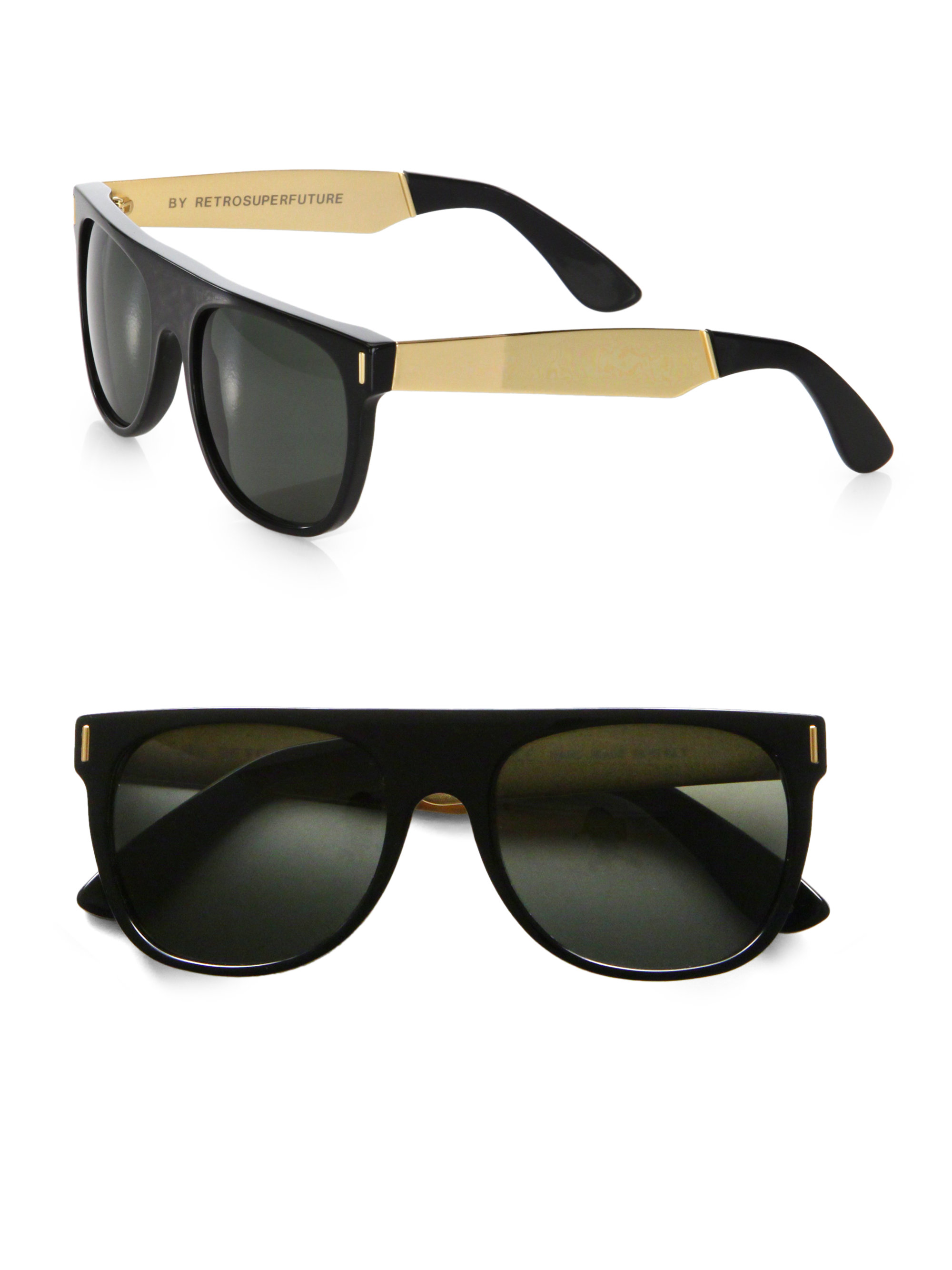 Retrosuperfuture Sunglasses  retrosuperfuture flat top plastic sunglasses in black for men lyst