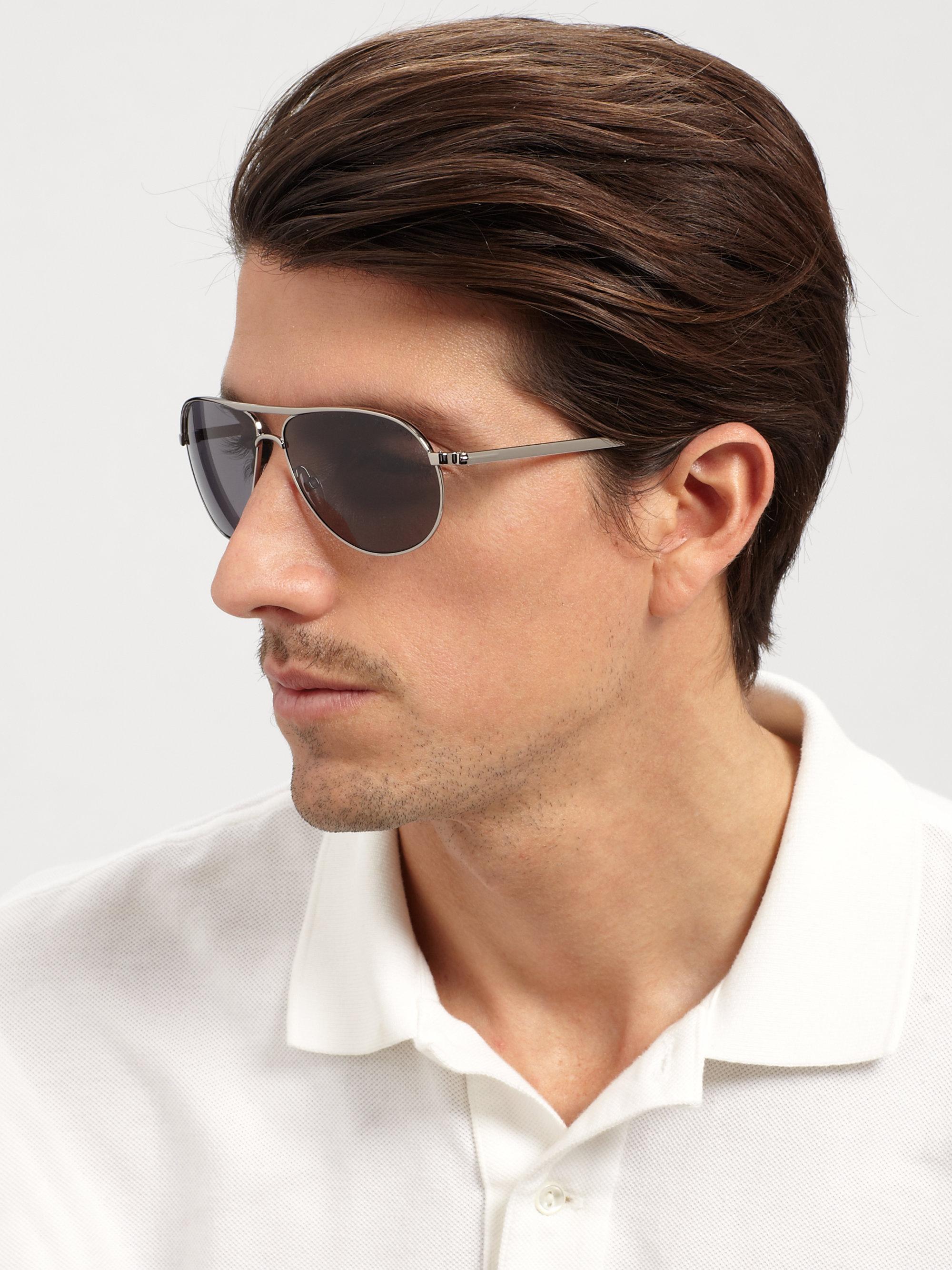 b556a8edc9 Lyst - Tom Ford Marko Metal Aviator Sunglasses in Gray for Men