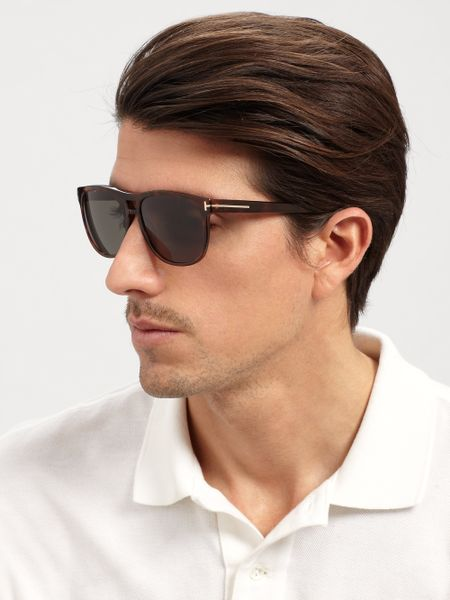 tom ford callum sunglasses in brown for men tortoise lyst. Cars Review. Best American Auto & Cars Review