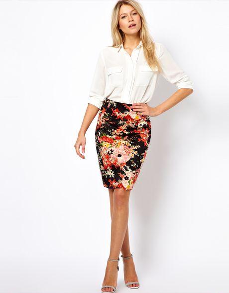 floral pencil skirt - photo #21