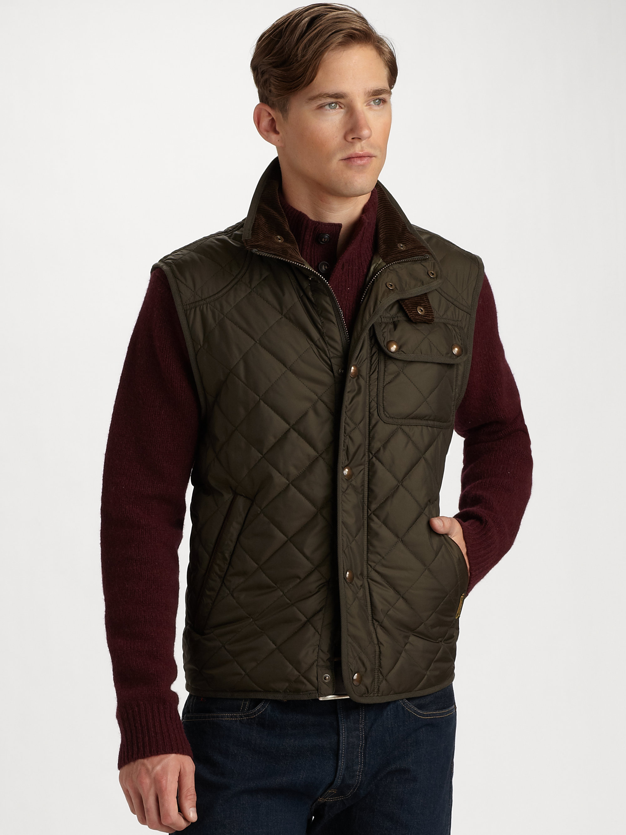 Lyst Polo Ralph Lauren Richmond Quilted Vest In Black