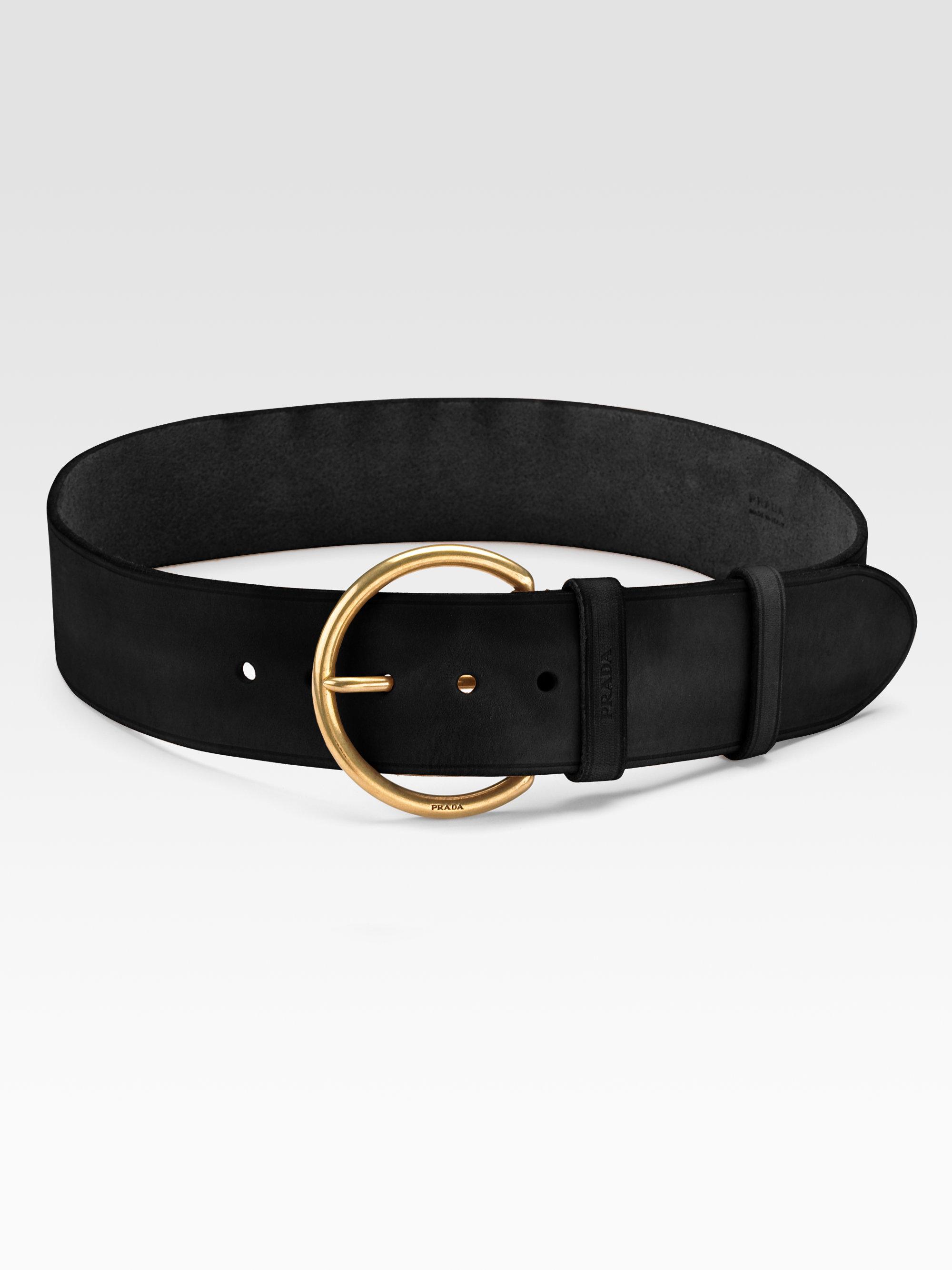 Prada Cuoio Belt in Black | Lyst