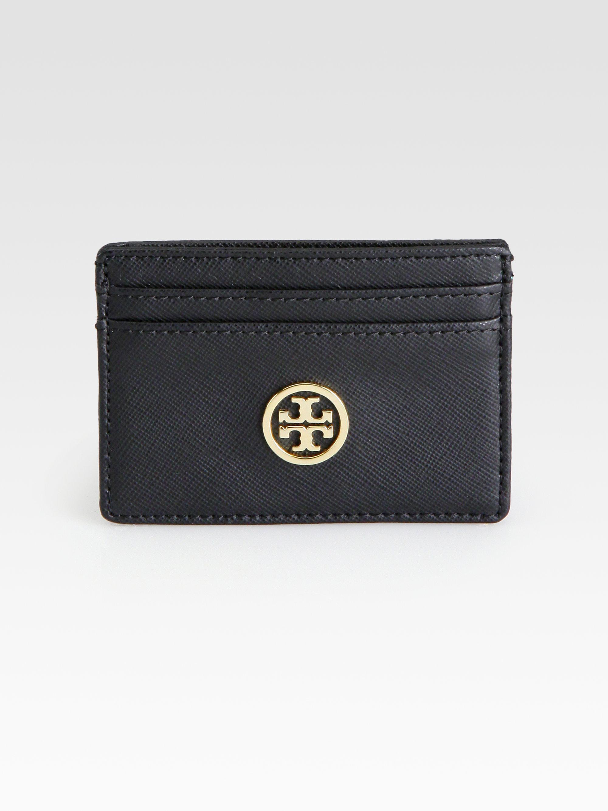 quality design 60cb4 64e85 Tory Burch Black Robinson Slim Card Case