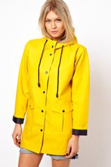 ASOS Collection Asos Rain Mac with Contrast Lining
