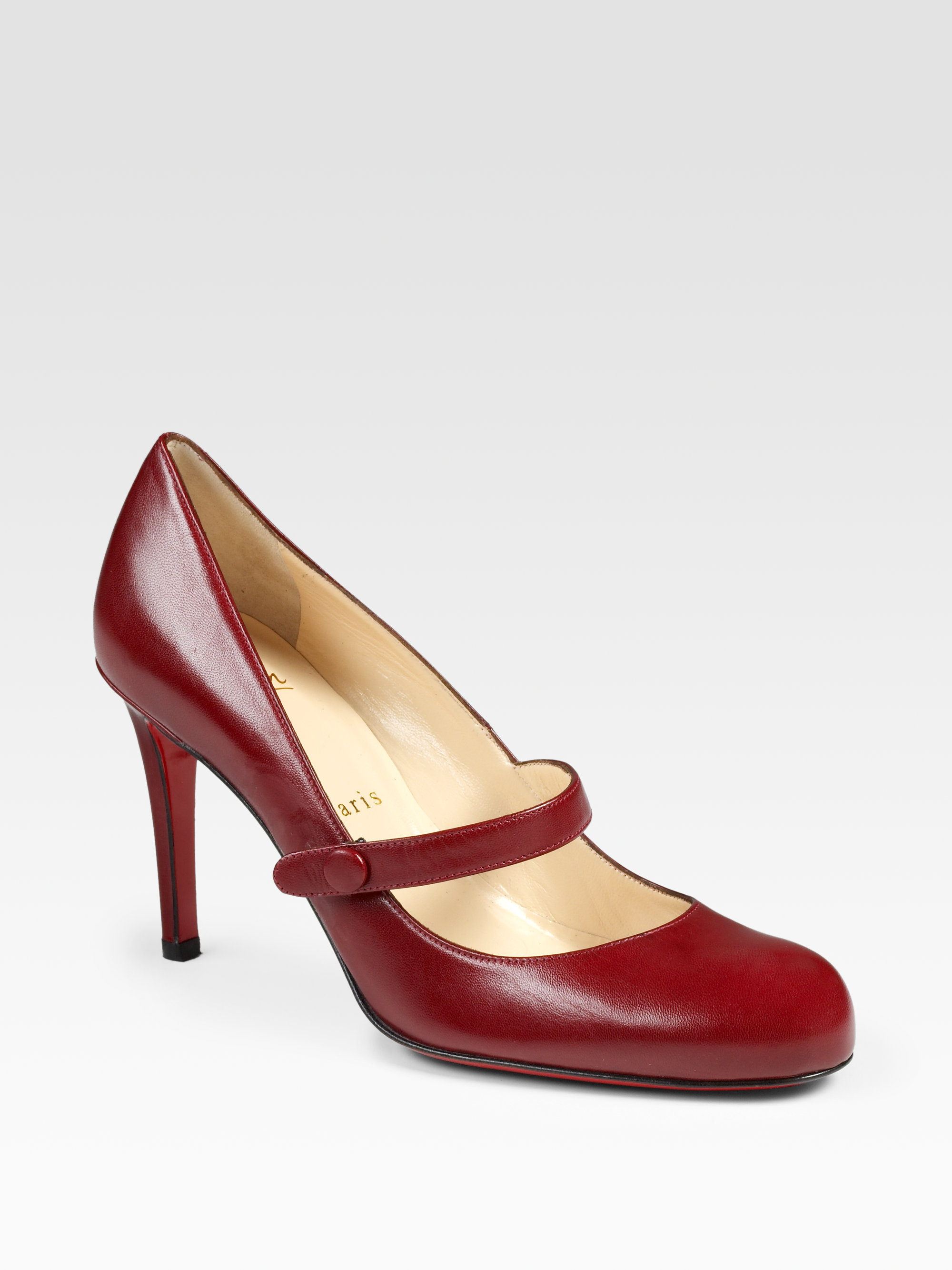 2c9564703cd3 Lyst - Christian Louboutin Wallis Mary Jane Pumps in Red