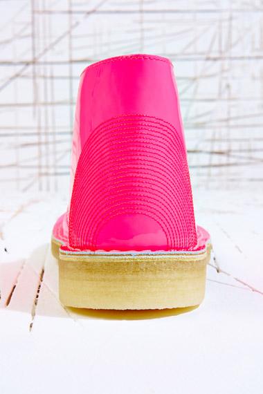Clarks Clarks Pink Patent Desert Boots