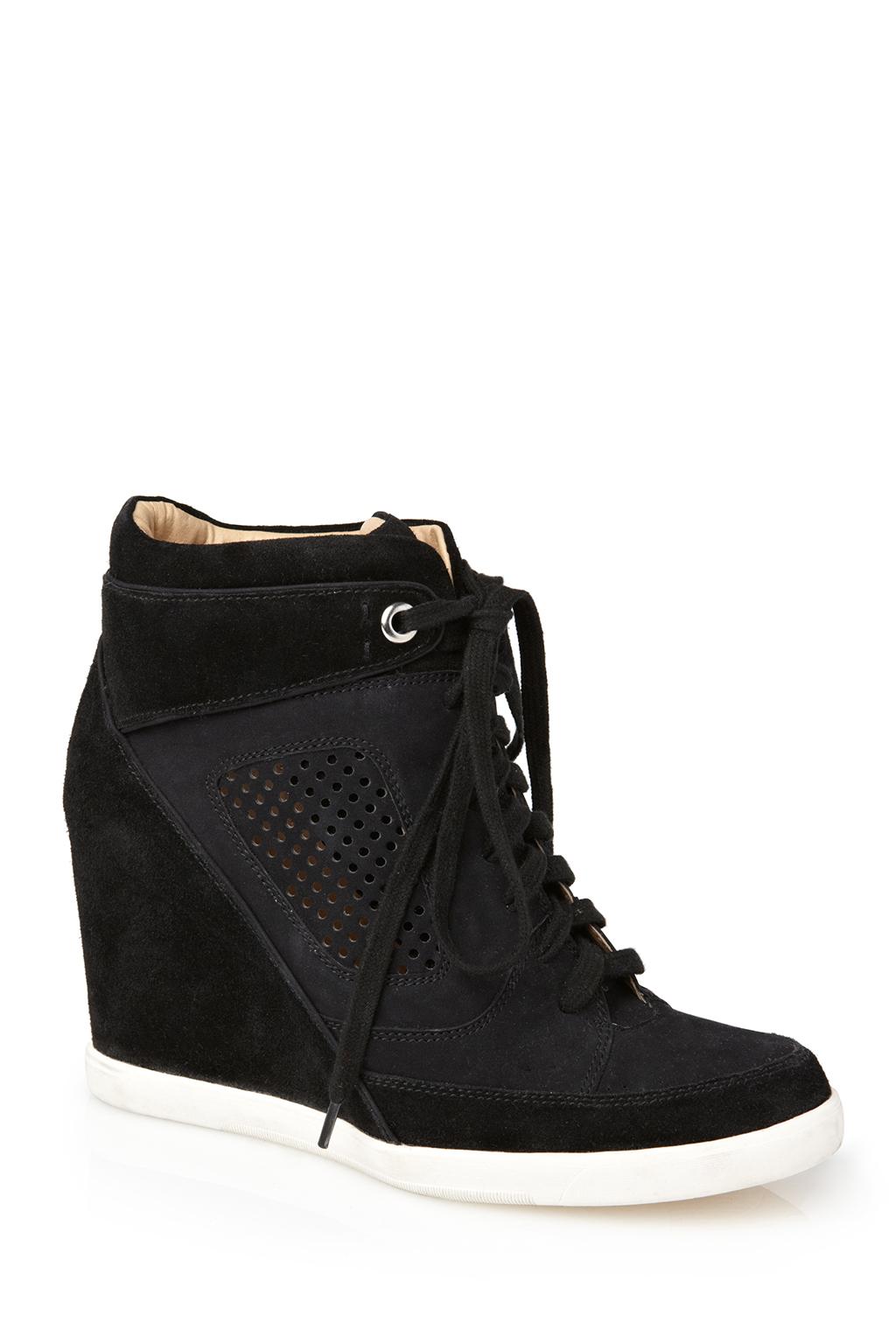 Black Wedge Tennis Shoes