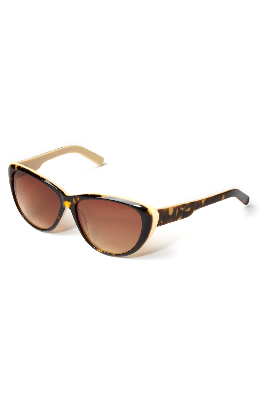 French Connection Square Frame Sunglasses in White (pale ...