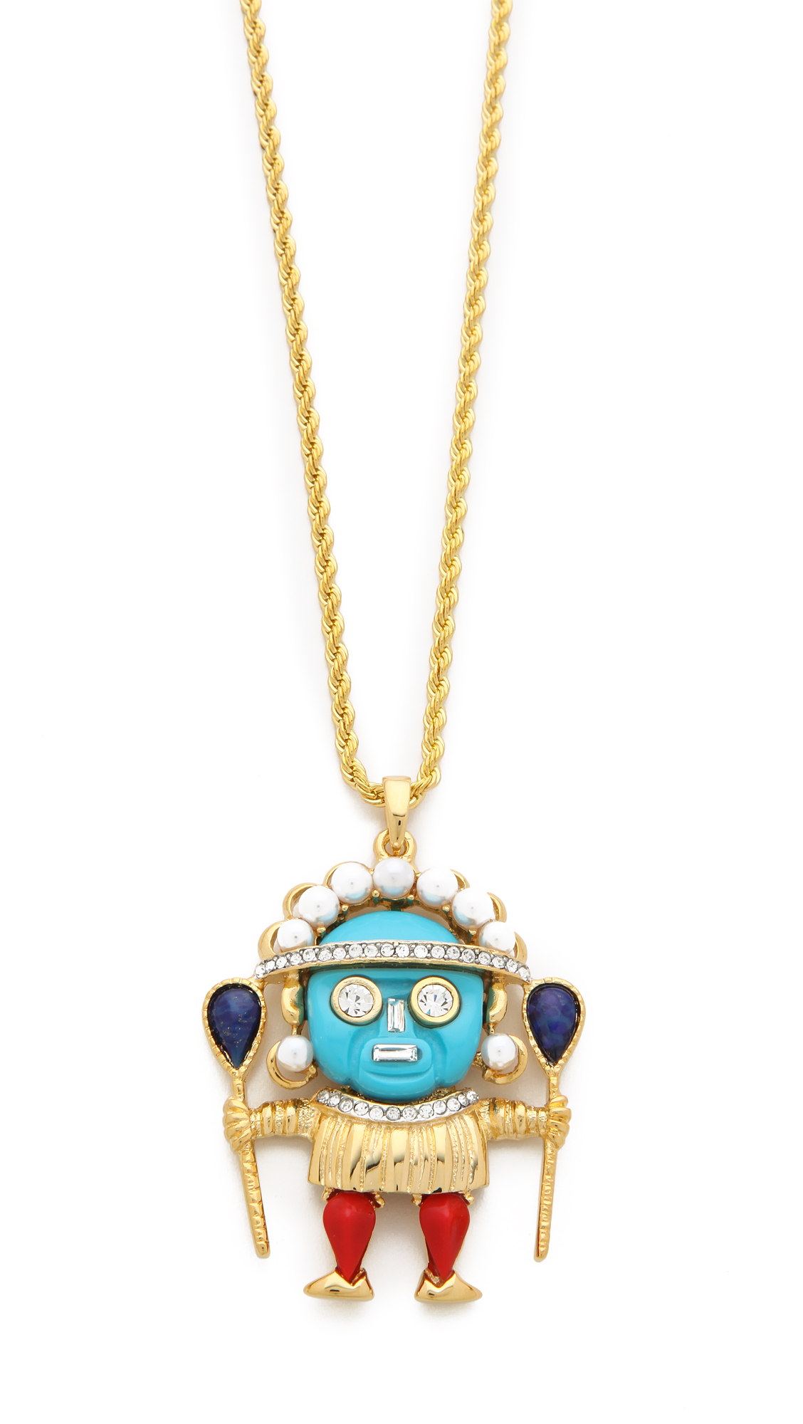 Lyst kenneth jay lane medicine man pendant necklace in metallic gallery aloadofball Image collections