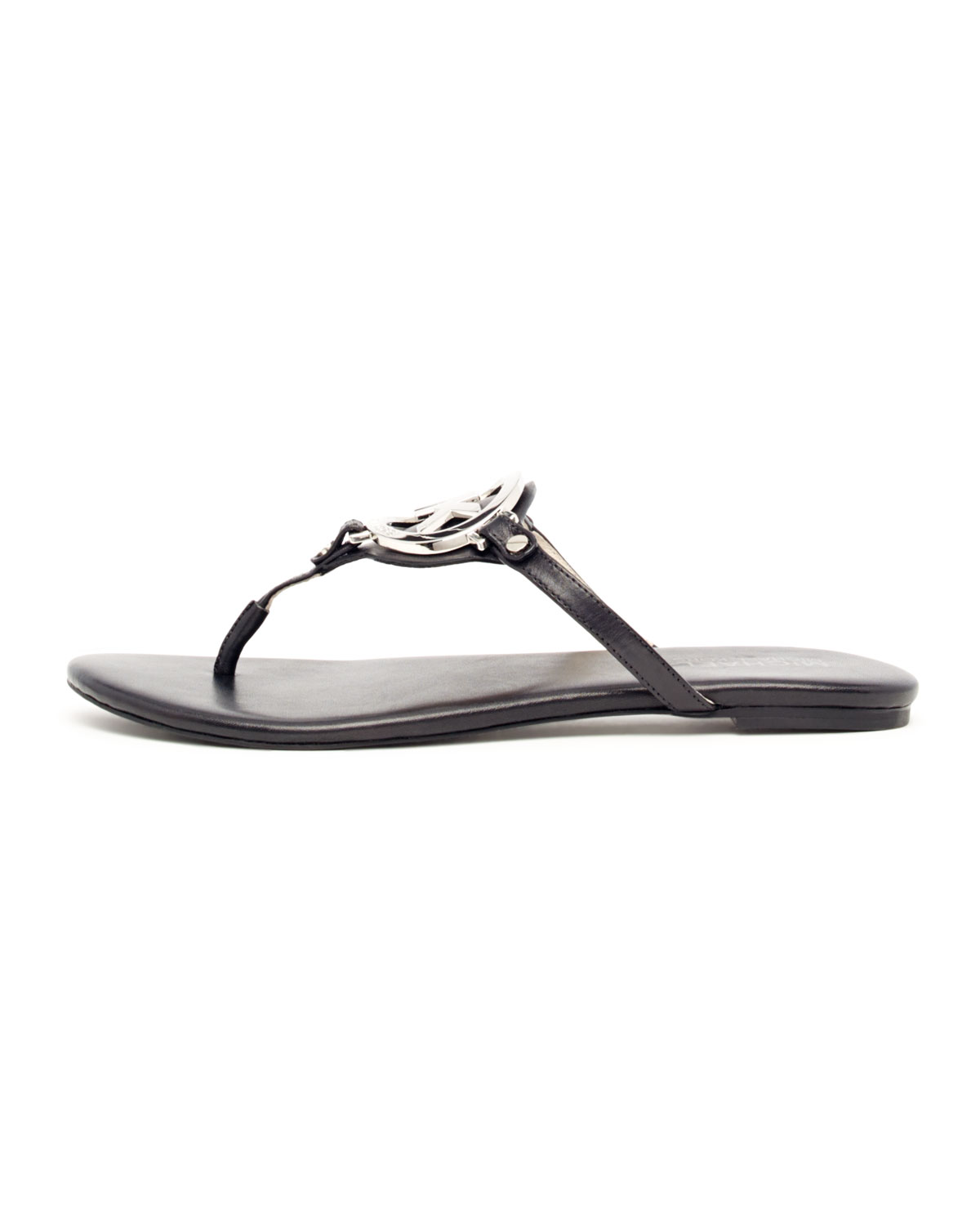 d21164f72f56 Lyst - Michael Kors Melodie Logo Thong Sandals in Black