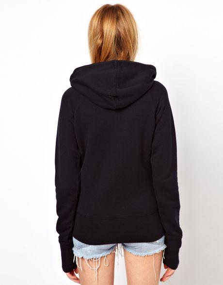 Nike Zip Through Hoodie in Black (blackpinkforce) | Lyst