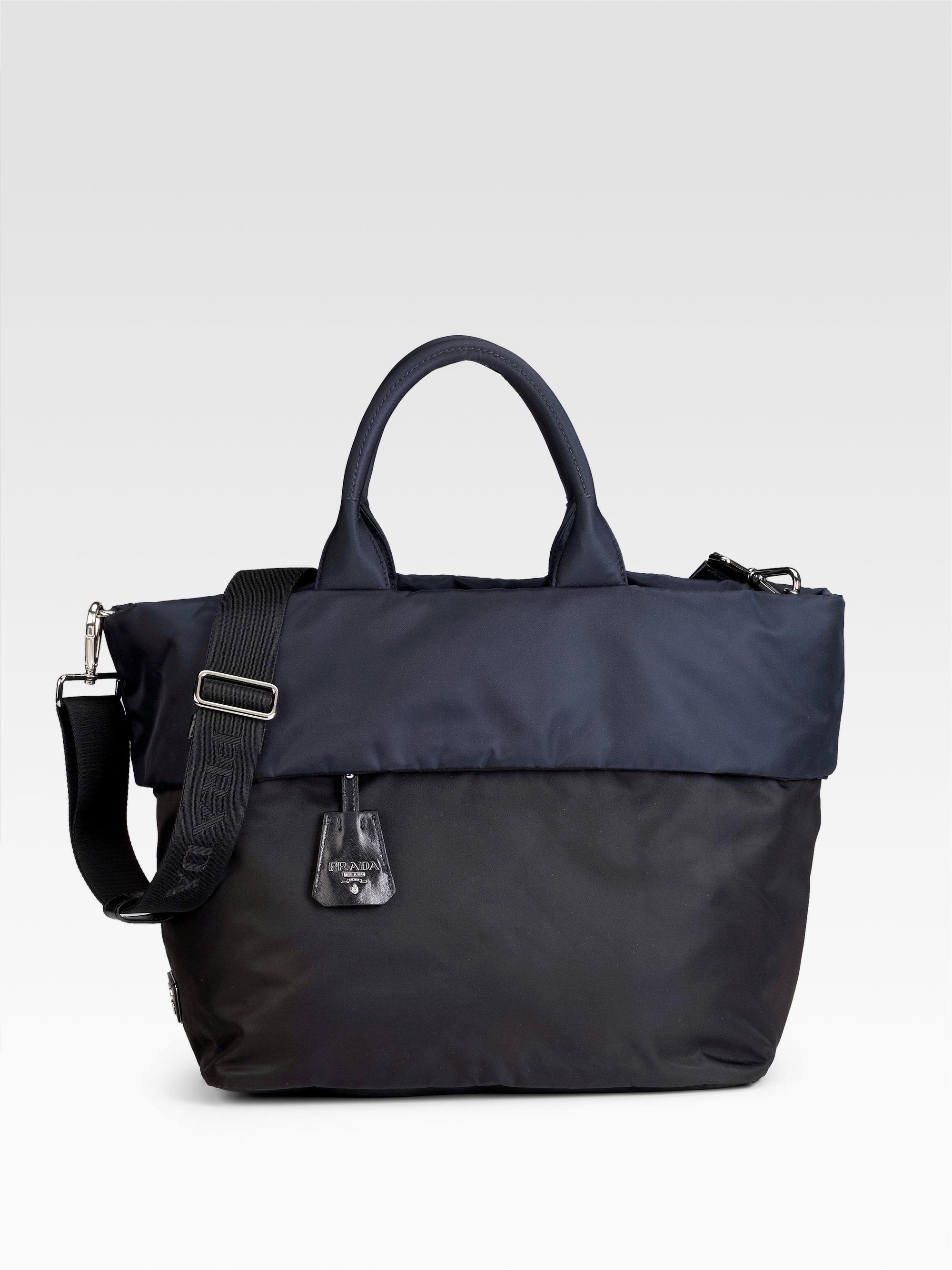 060733eb7e07 ... shopping lyst prada tessuto double tote in black 8a393 8b722