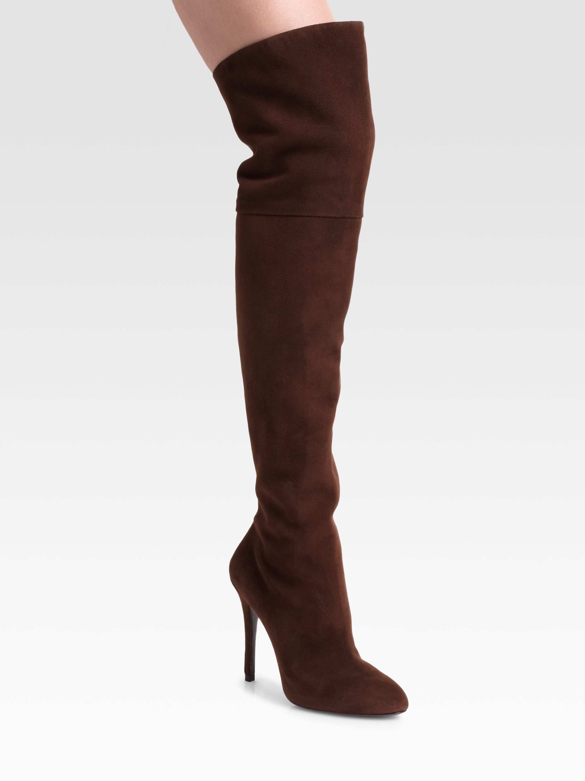 Ralph Lauren Collection Suede Knee-High Boots looking for cheap price sale geniue stockist cheap 2014 wFD17bY5Z