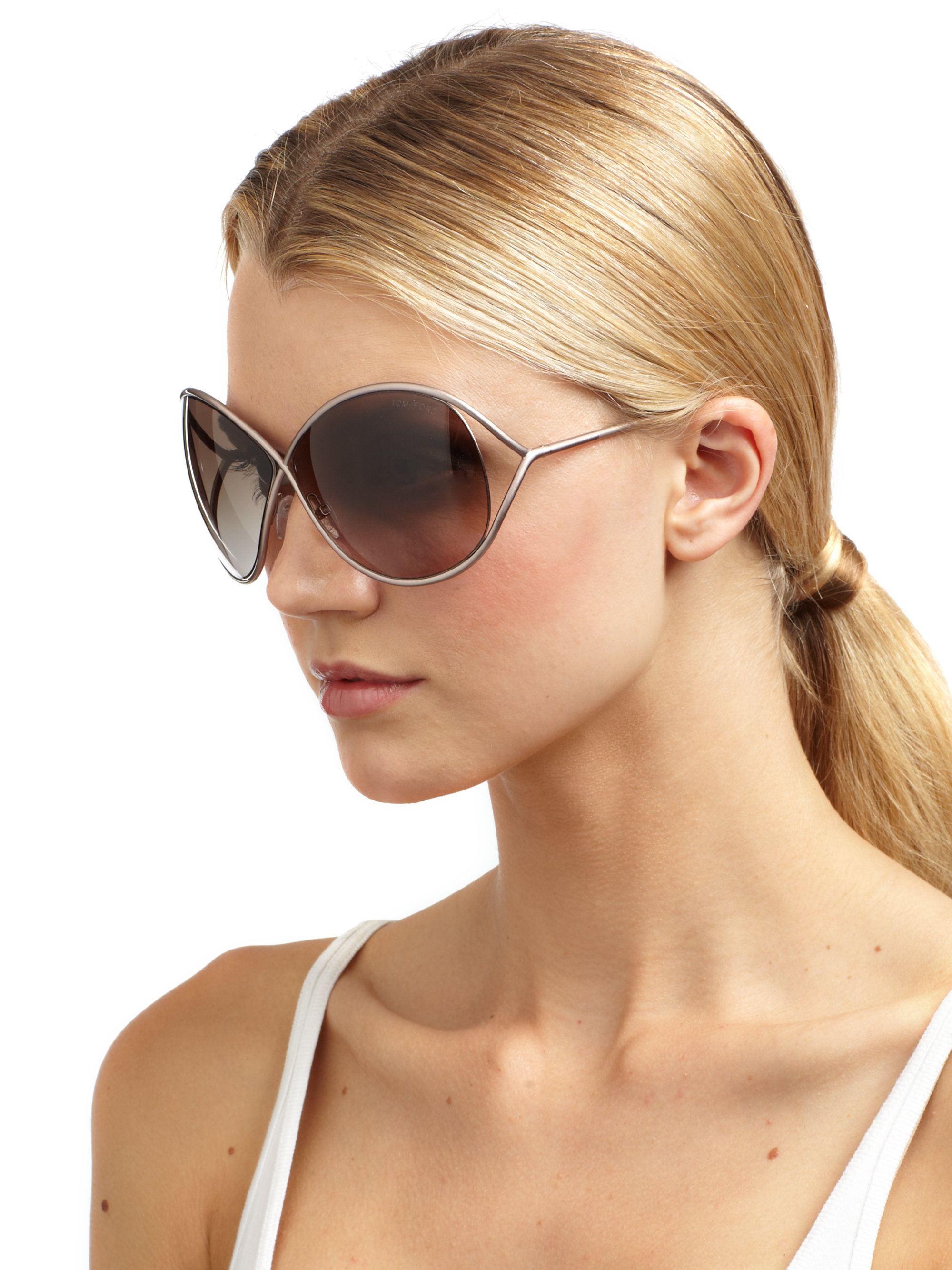 Lyst Tom Ford Lilliana Sunglasses In Metallic