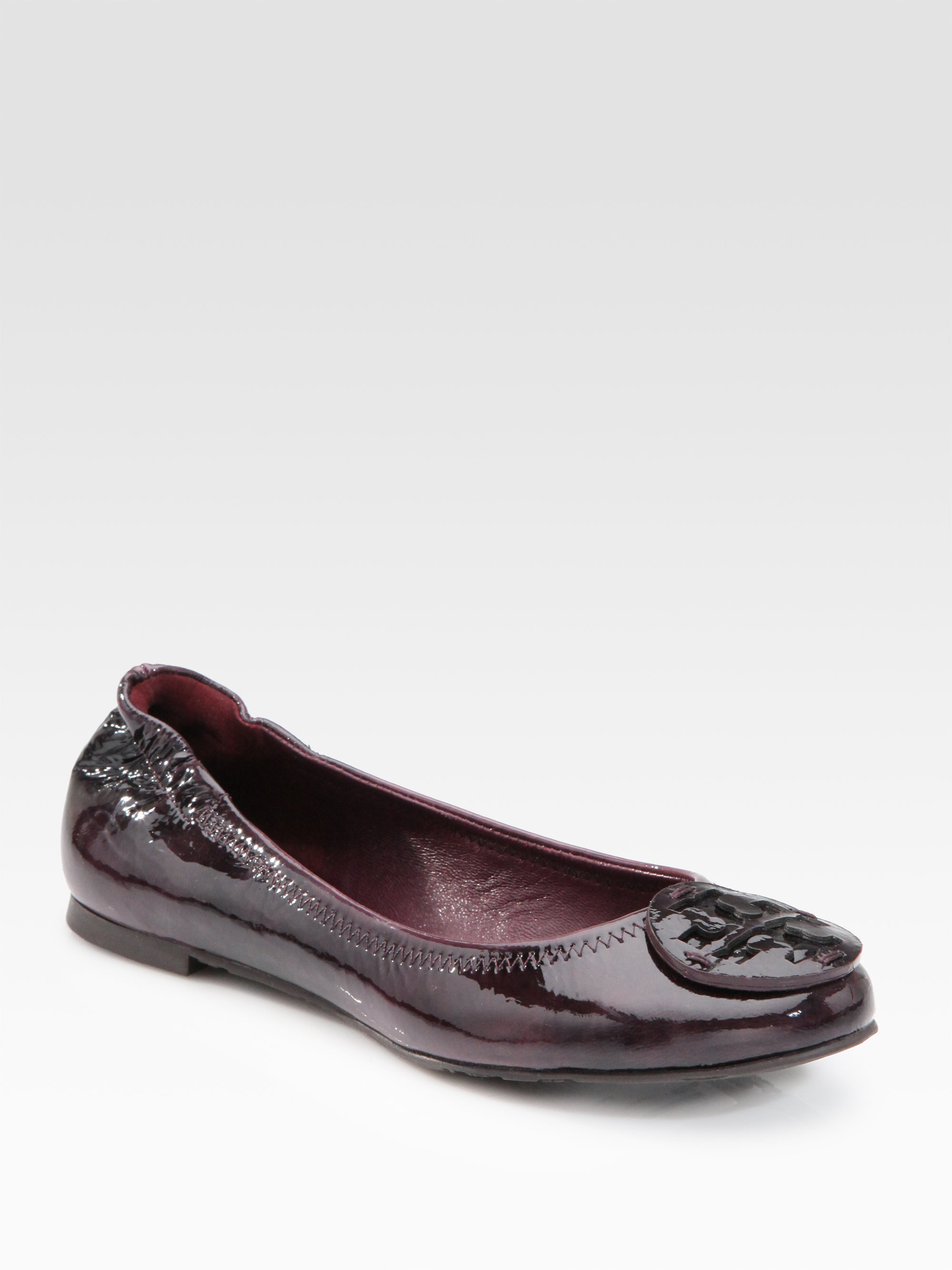 749a297fe9a Lyst - Tory Burch Reva Patent Leather Ballet Flats in Purple