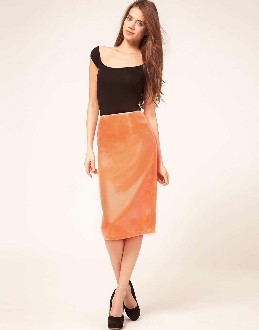 1ae92ef48 Satin Pencil Skirt | Skirt Direct