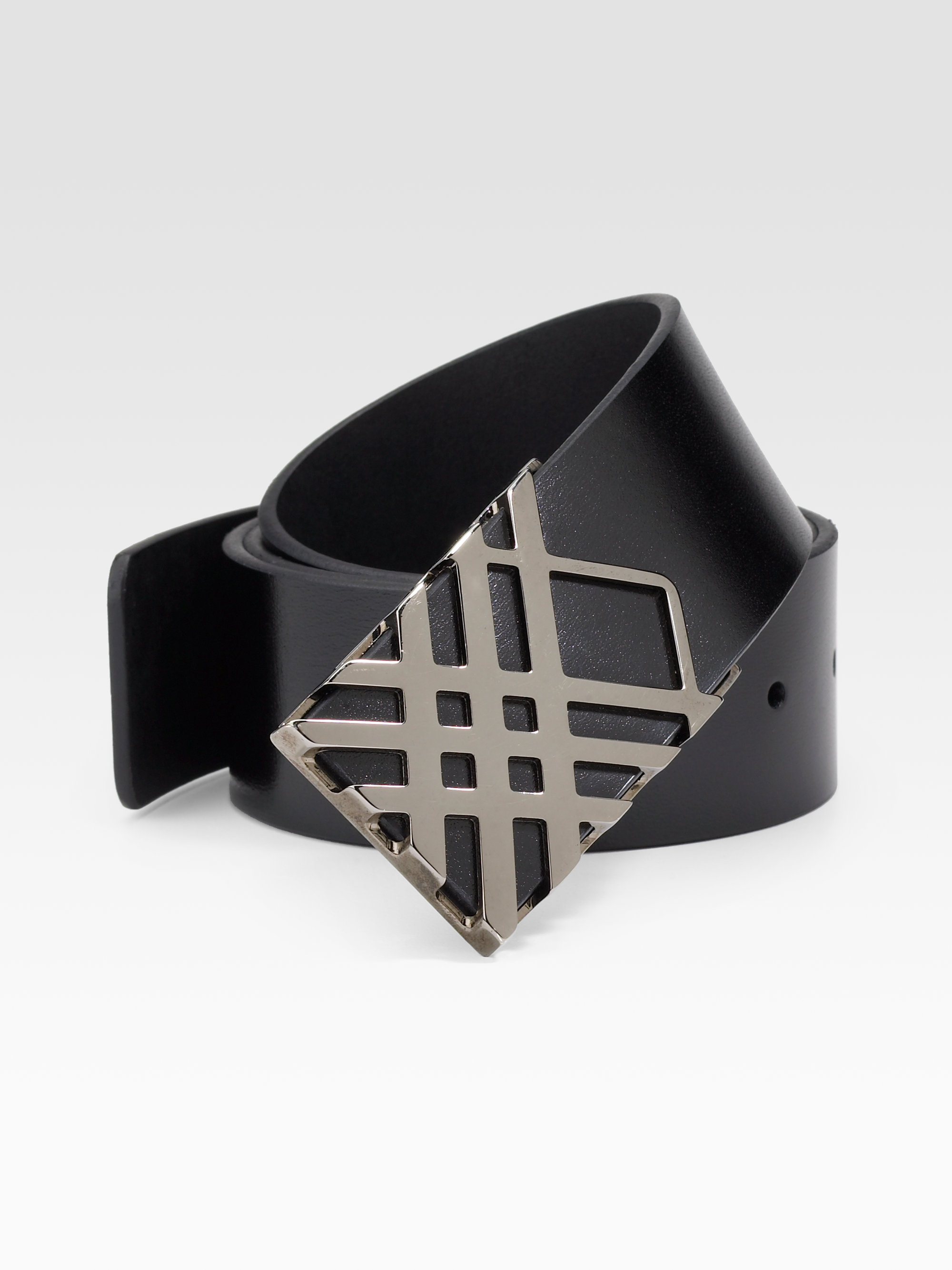 ba6d0988e012 Lyst - Burberry Calshott Leather Belt in Black for Men