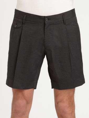 Dolce & Gabbana Pinstriped Cotton Shorts - Lyst