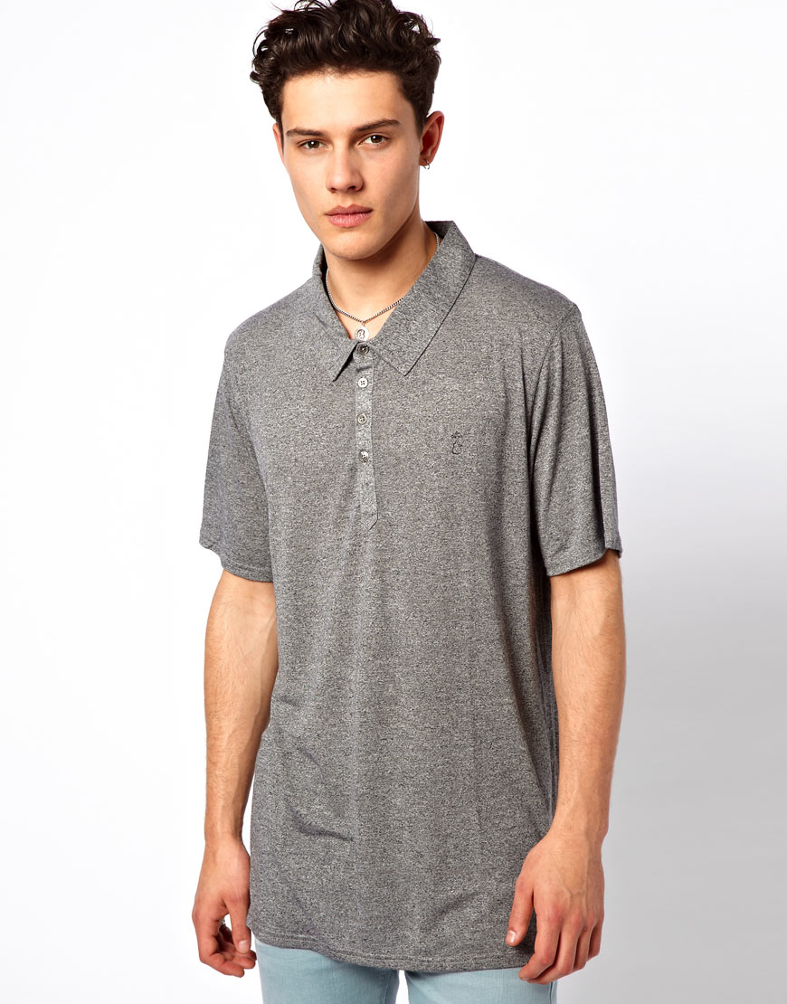 Elvis jesus dead weight polo t shirt in gray for men lyst for Elvis t shirts for men