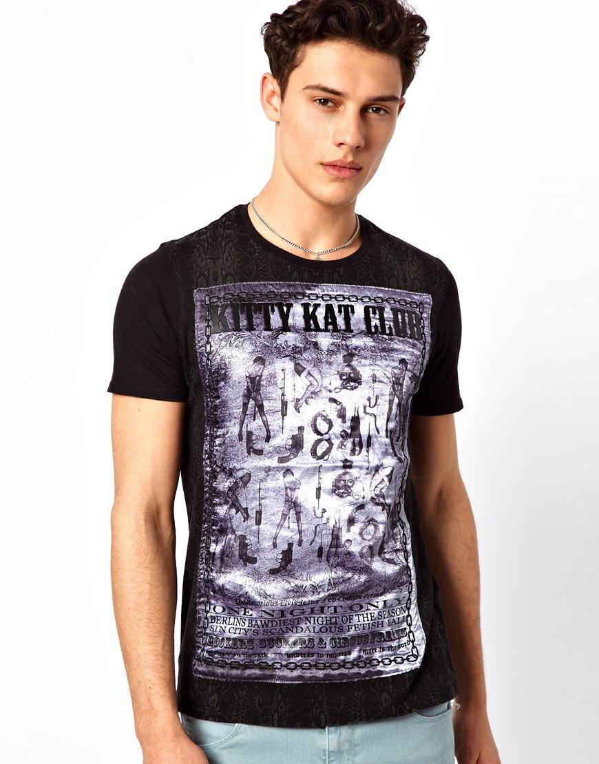 Elvis jesus t shirt kitty kat in black for men lyst for Elvis jesus t shirt