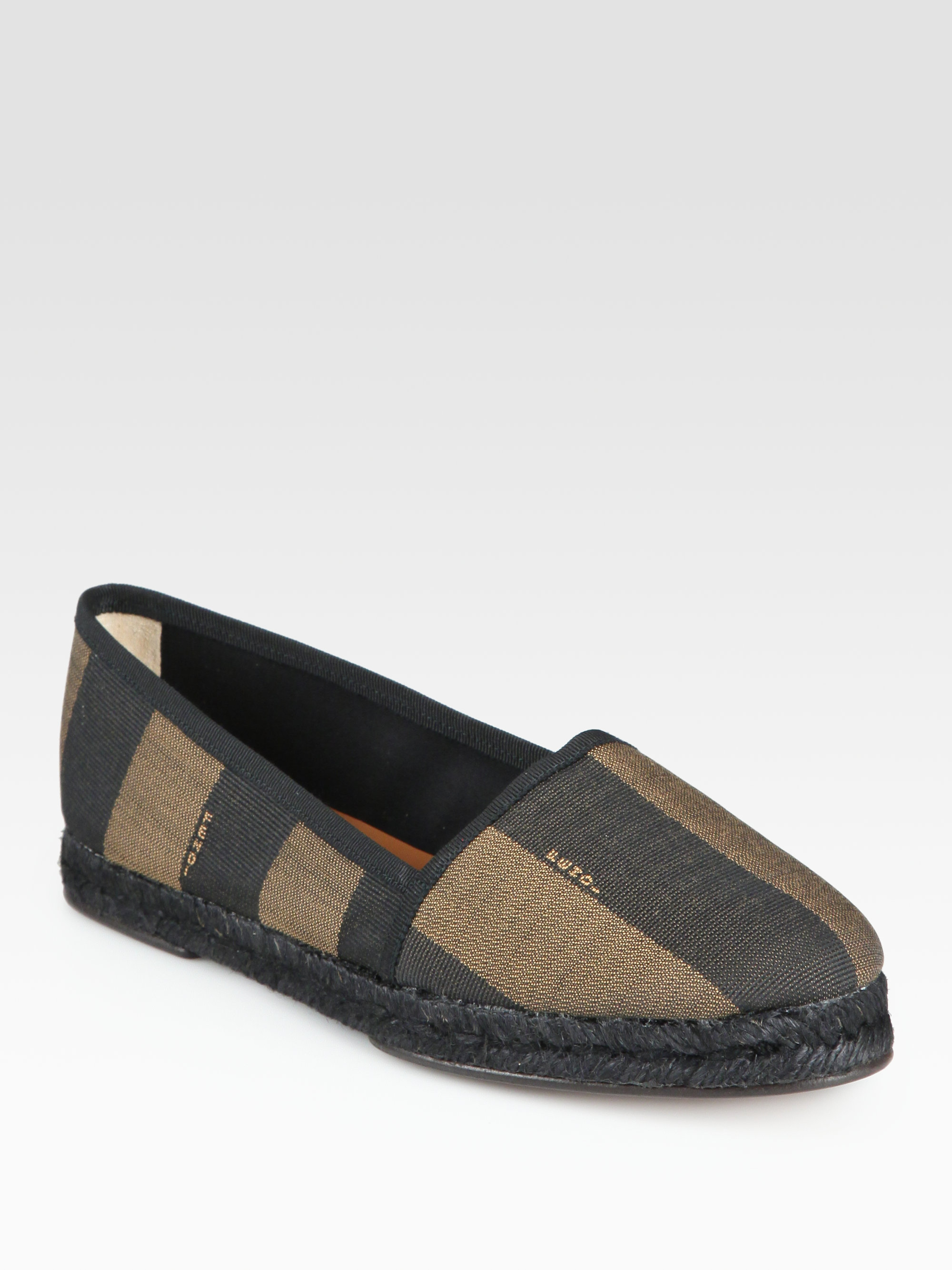 cheap sale professional shipping discount sale Fendi Pequin Espadrille Flats cheap sale nicekicks 53cYMWgE0