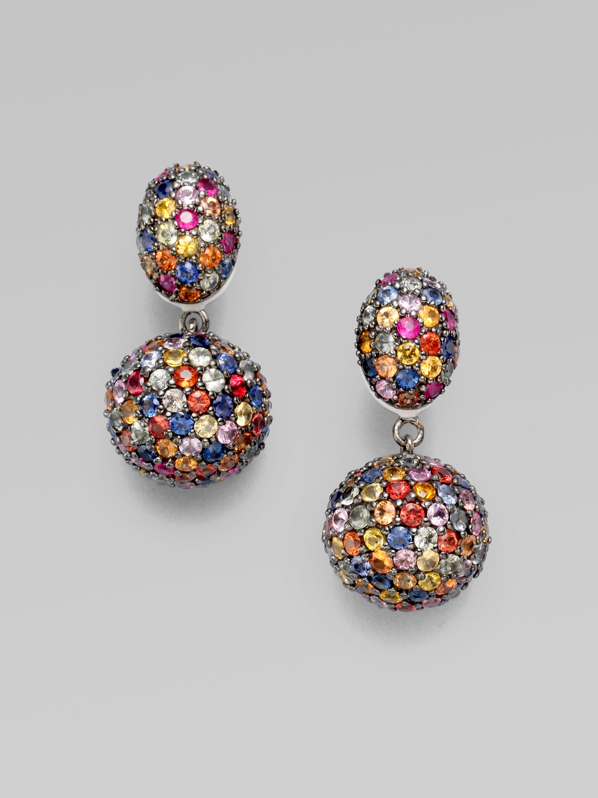 jewelry gallery multicolored designer ring citrine in metallic multi effy sapphire lyst