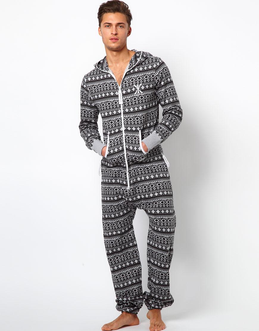 toddland onepiece original hippy lightweight onesie in black for men lyst. Black Bedroom Furniture Sets. Home Design Ideas