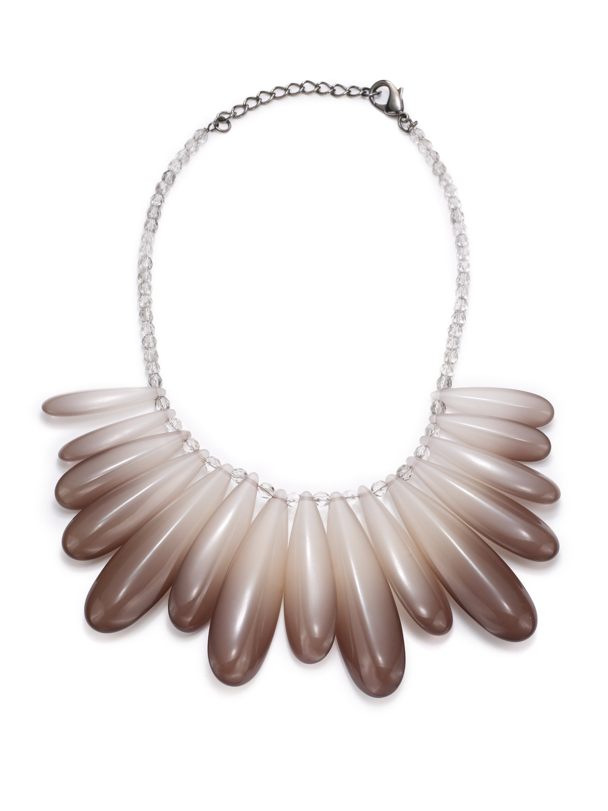 pono ombr 233 teardrop necklace in brown lyst