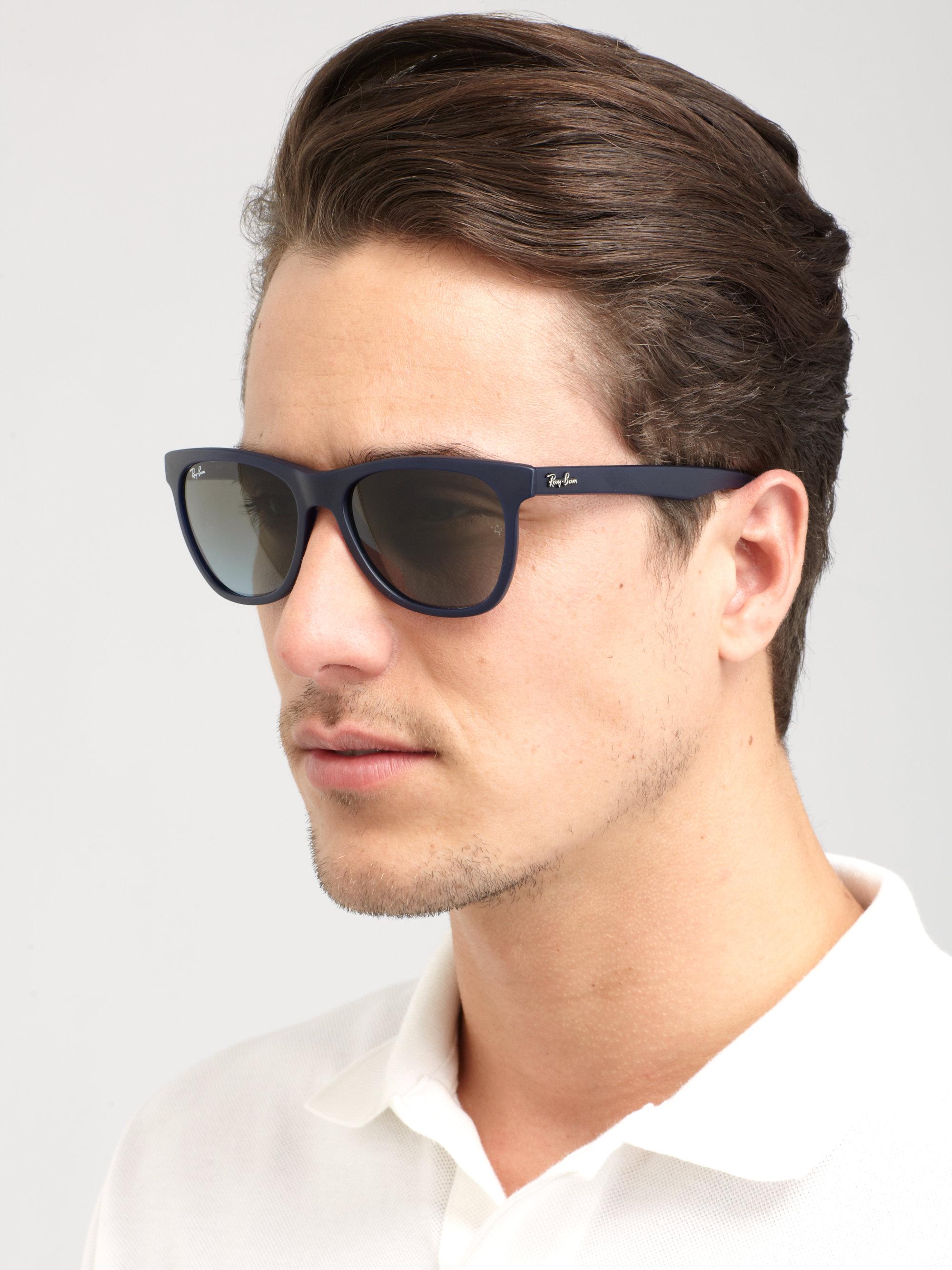 4c9cc2523667 Lyst - Ray-Ban Oversized Wayfarer Sunglasses in Blue for Men