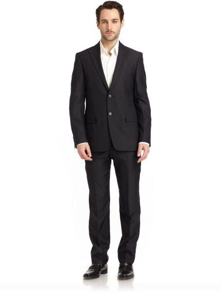 Versace Suit in Blue for Men - Lyst