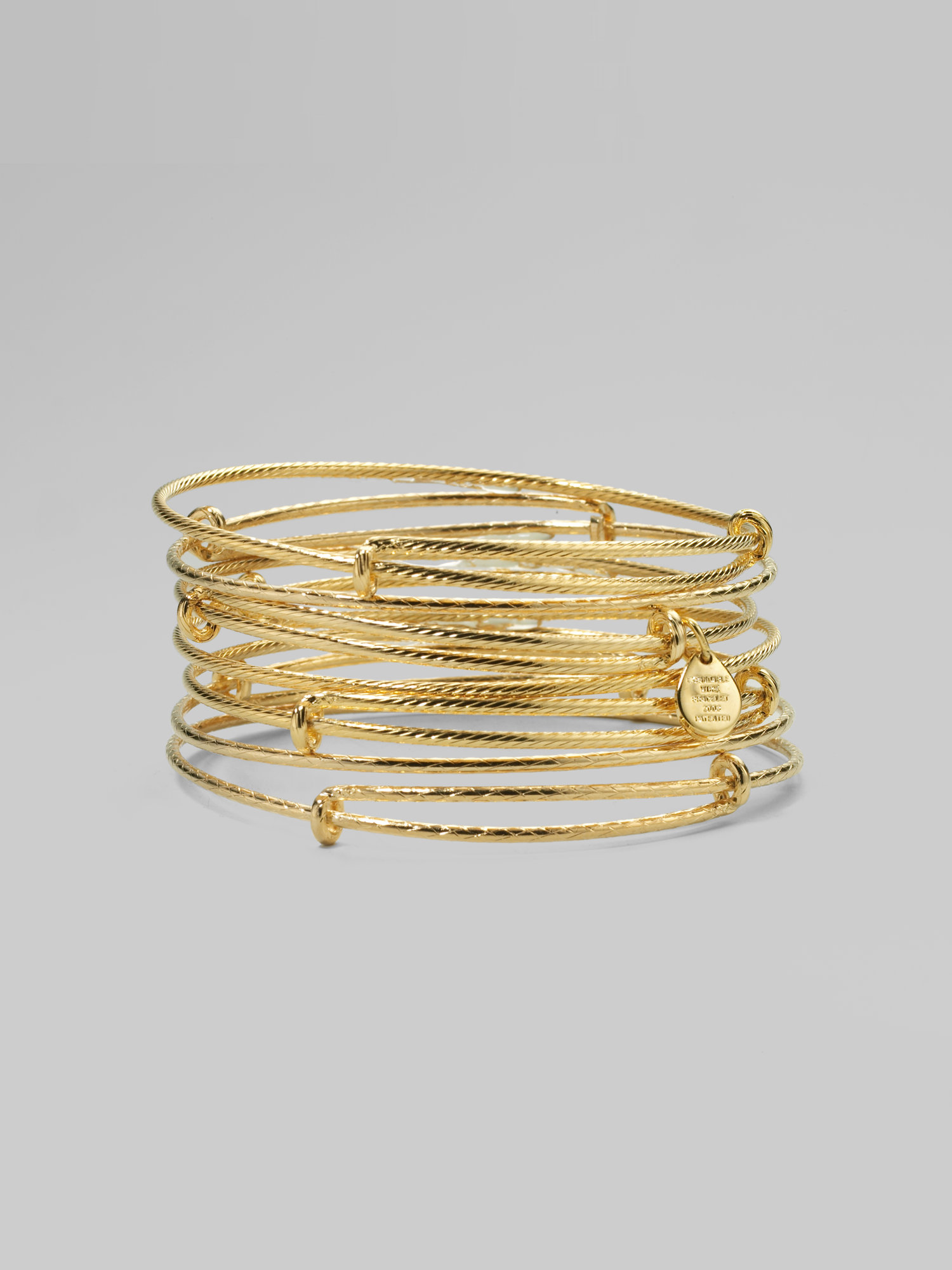 Lyst - Alex And Ani Textured Expandable Wire Bracelet Set in Metallic