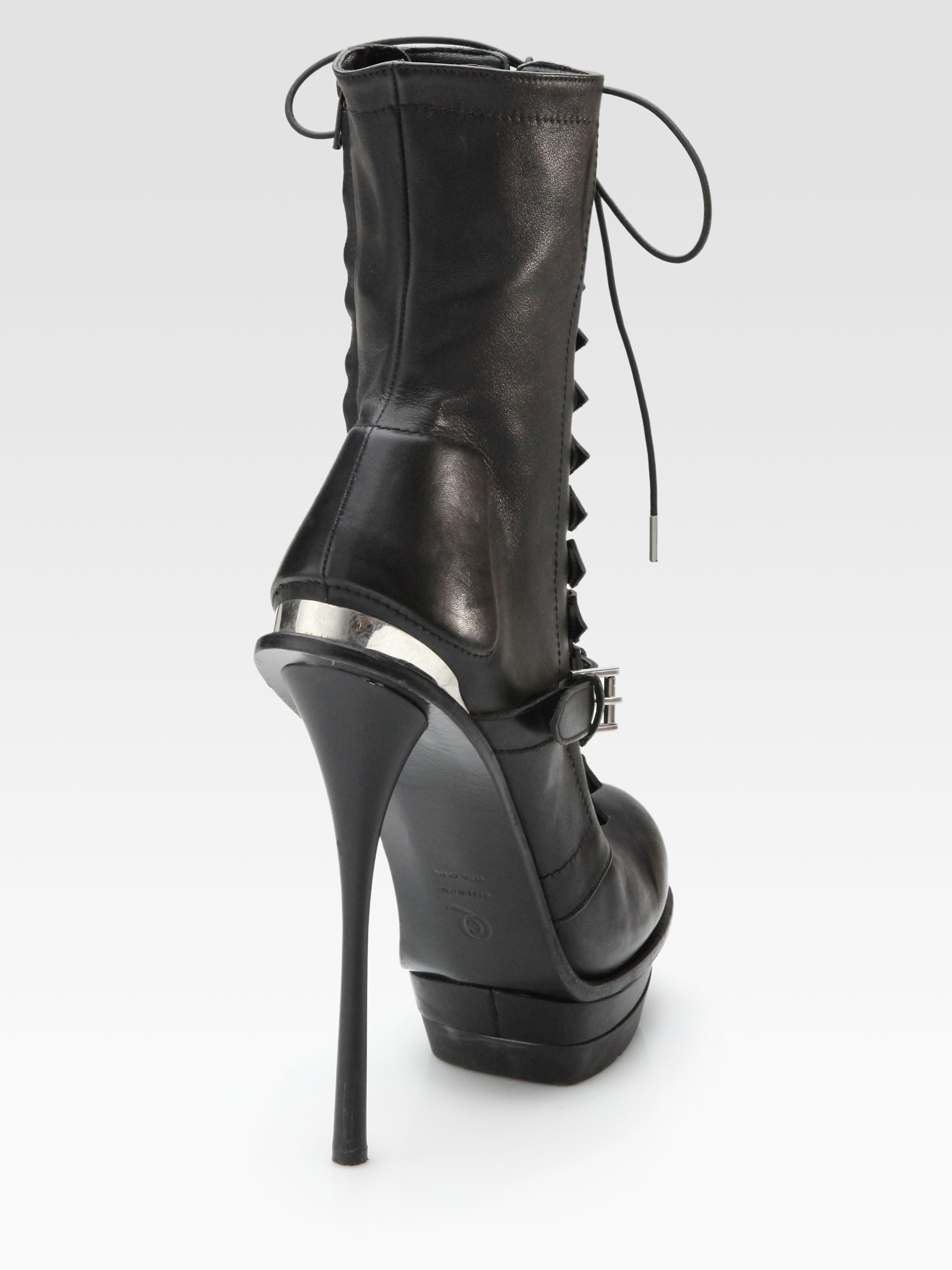 Alexander McQueen Lace-Up Platform Booties discount factory outlet gwnU0