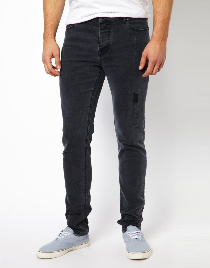 Black ripped skinny jeans for women MEMEs