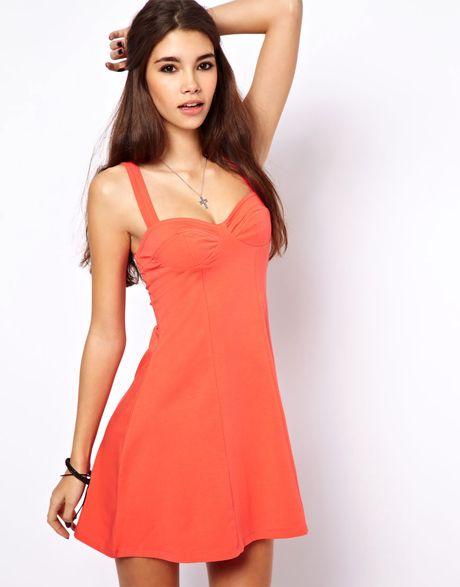 Orange sundresses