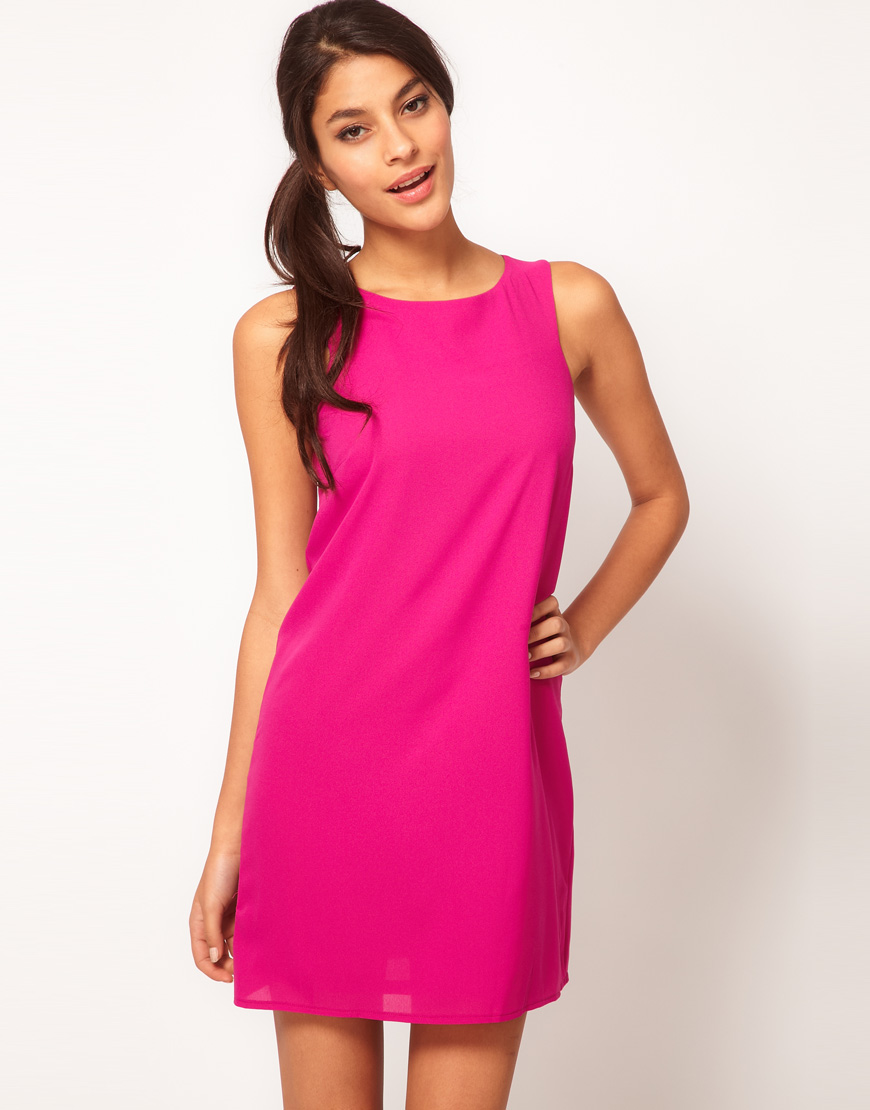 Lyst - Asos Collection Simple Shift Dress in Purple