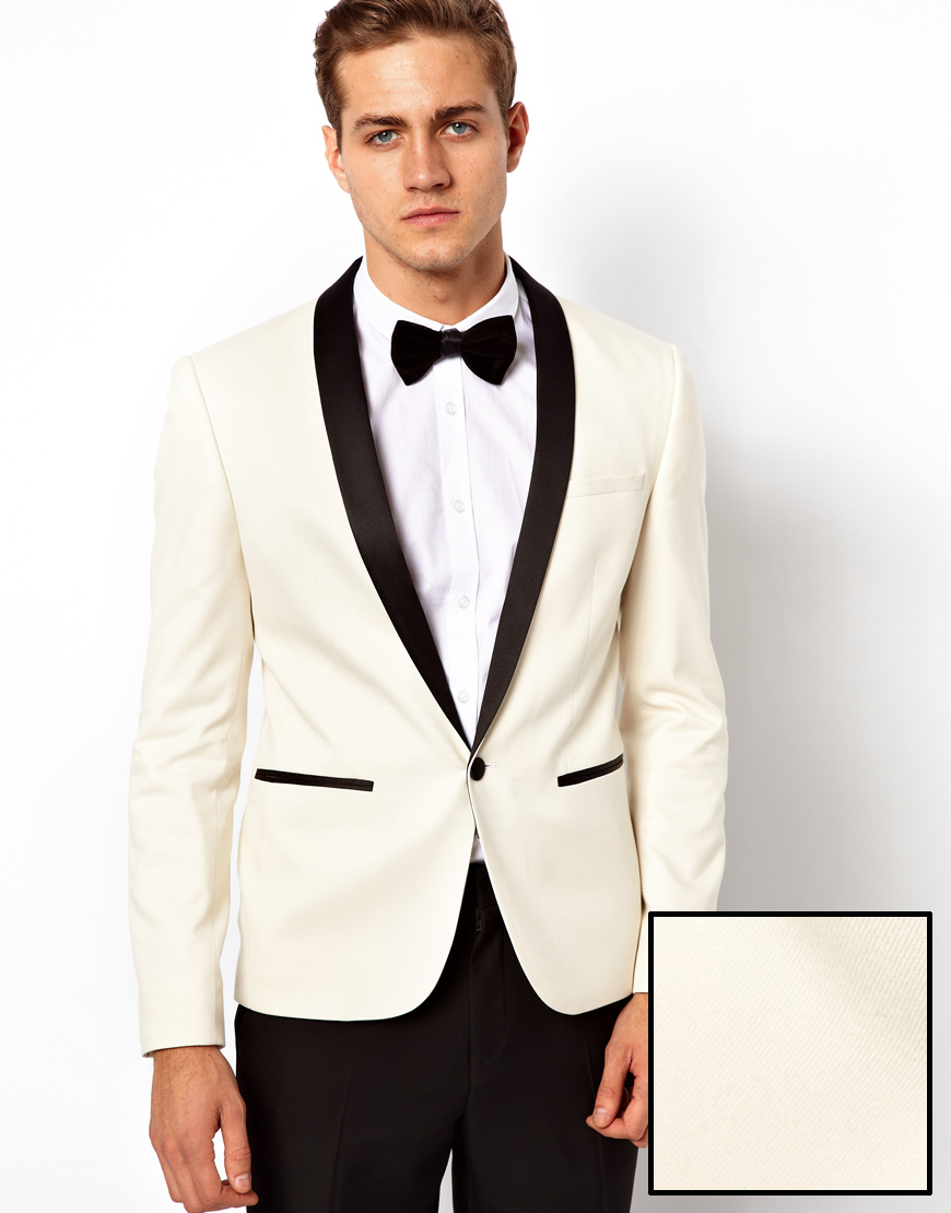 Paul smith Slim Fit Tuxedo Suit Jacket in White for Men | Lyst