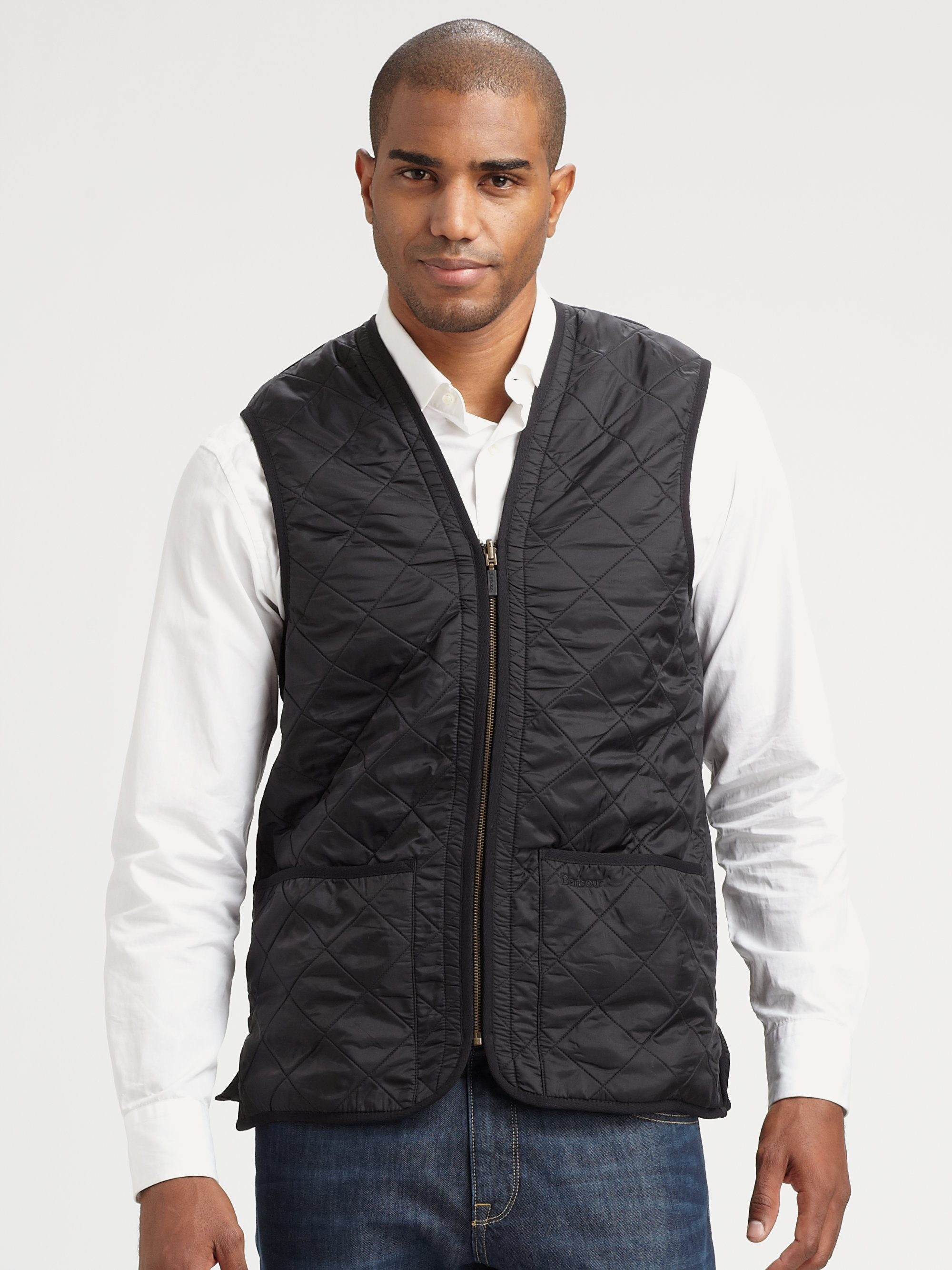 Barbour Quilted Vest in Black for Men | Lyst : quilted vests for men - Adamdwight.com