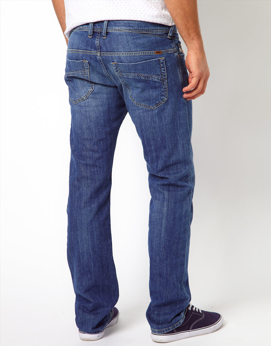 diesel jeans iakop slim 807s in blue for men lyst. Black Bedroom Furniture Sets. Home Design Ideas