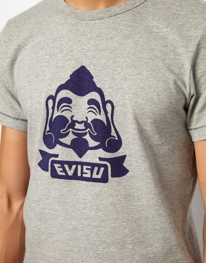 6a58b2639eb8 Lyst - Evisu Tshirt Takshima Baby Godhead in Gray for Men