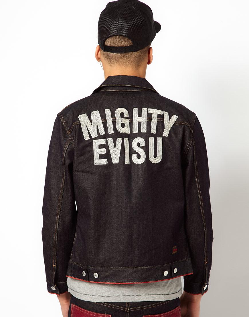 Lyst Evisu Denim Jacket Hajima Embroid Back In Blue For Men