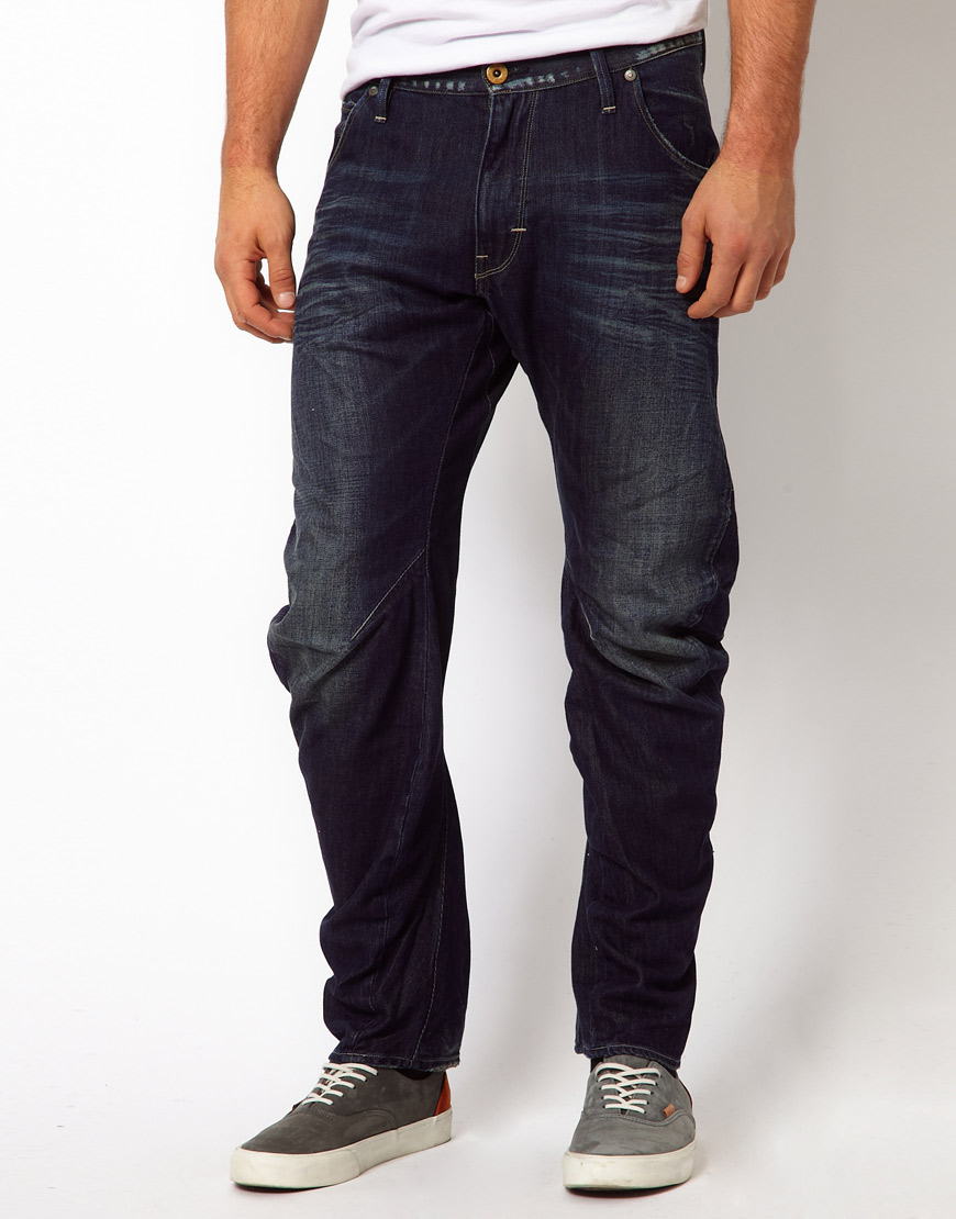 g star raw g star arc tapered fit jeans in dark aged wash. Black Bedroom Furniture Sets. Home Design Ideas
