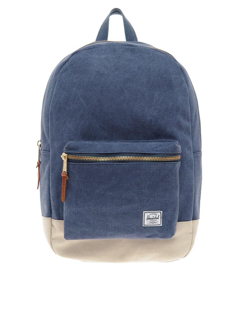 9823de6cbea3 Lyst - Herschel Supply Co. Settlement Canvas Backpack in Blue for Men