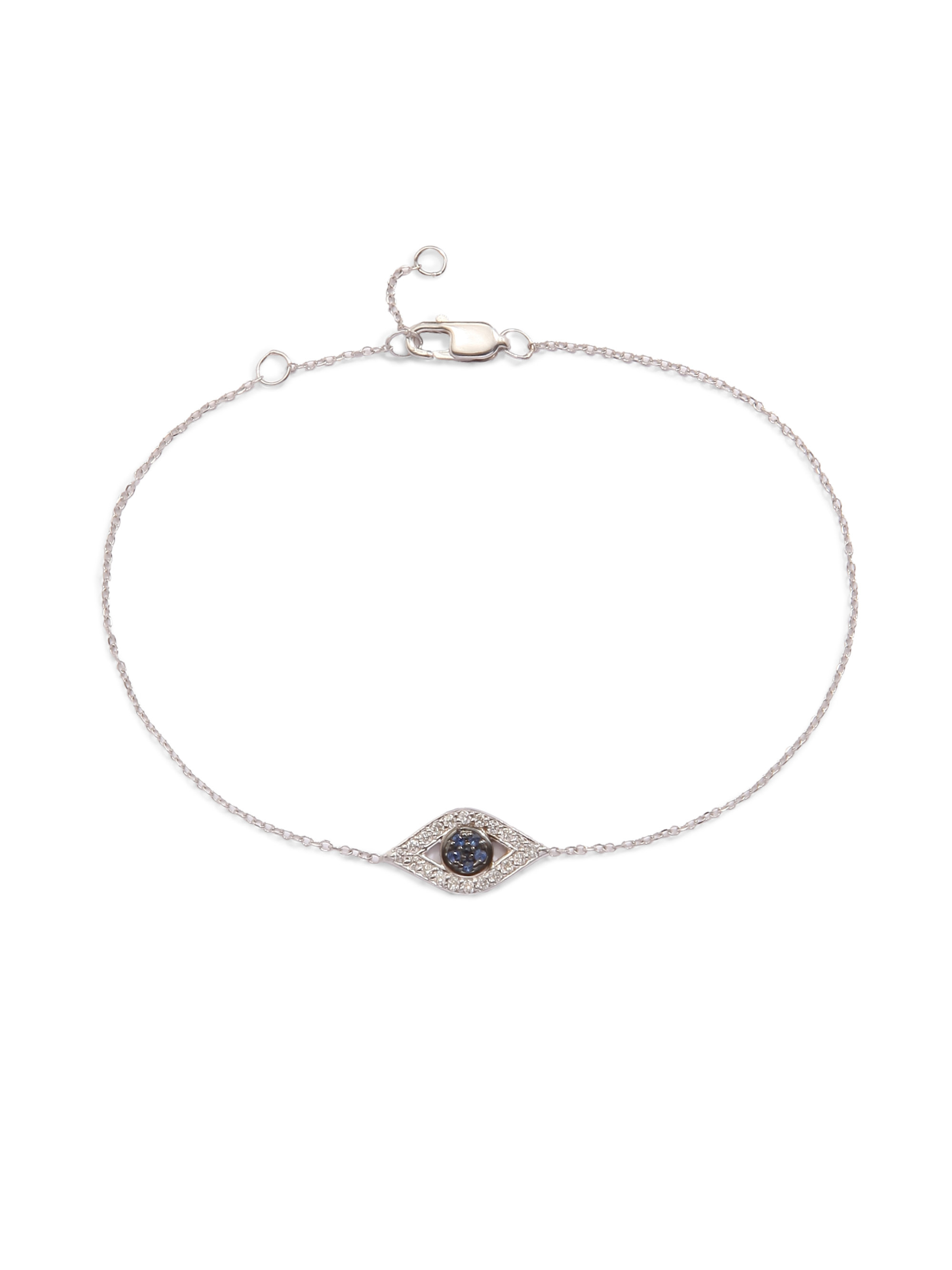diamond eye evan blue choker navy bezel lyst gallery evil leather jewelry sydney sapphire