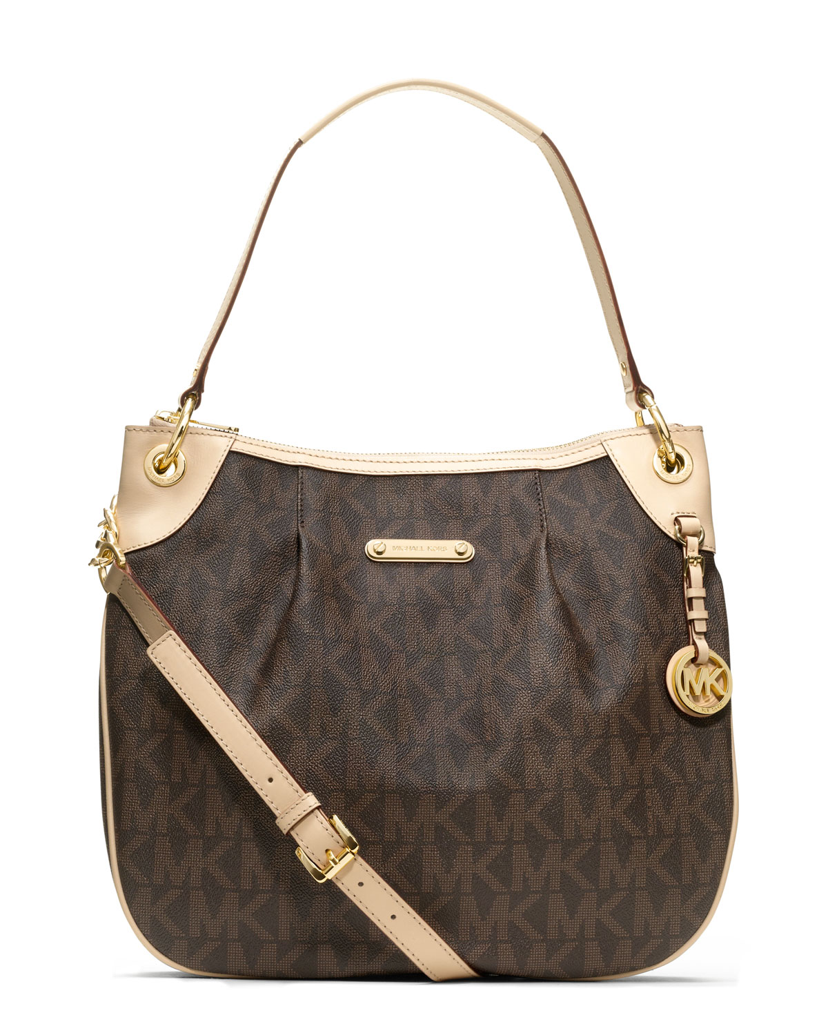 9e42f563b88ab Lyst - MICHAEL Michael Kors Sloan Large Quilted Suede Shoulder Bag ...