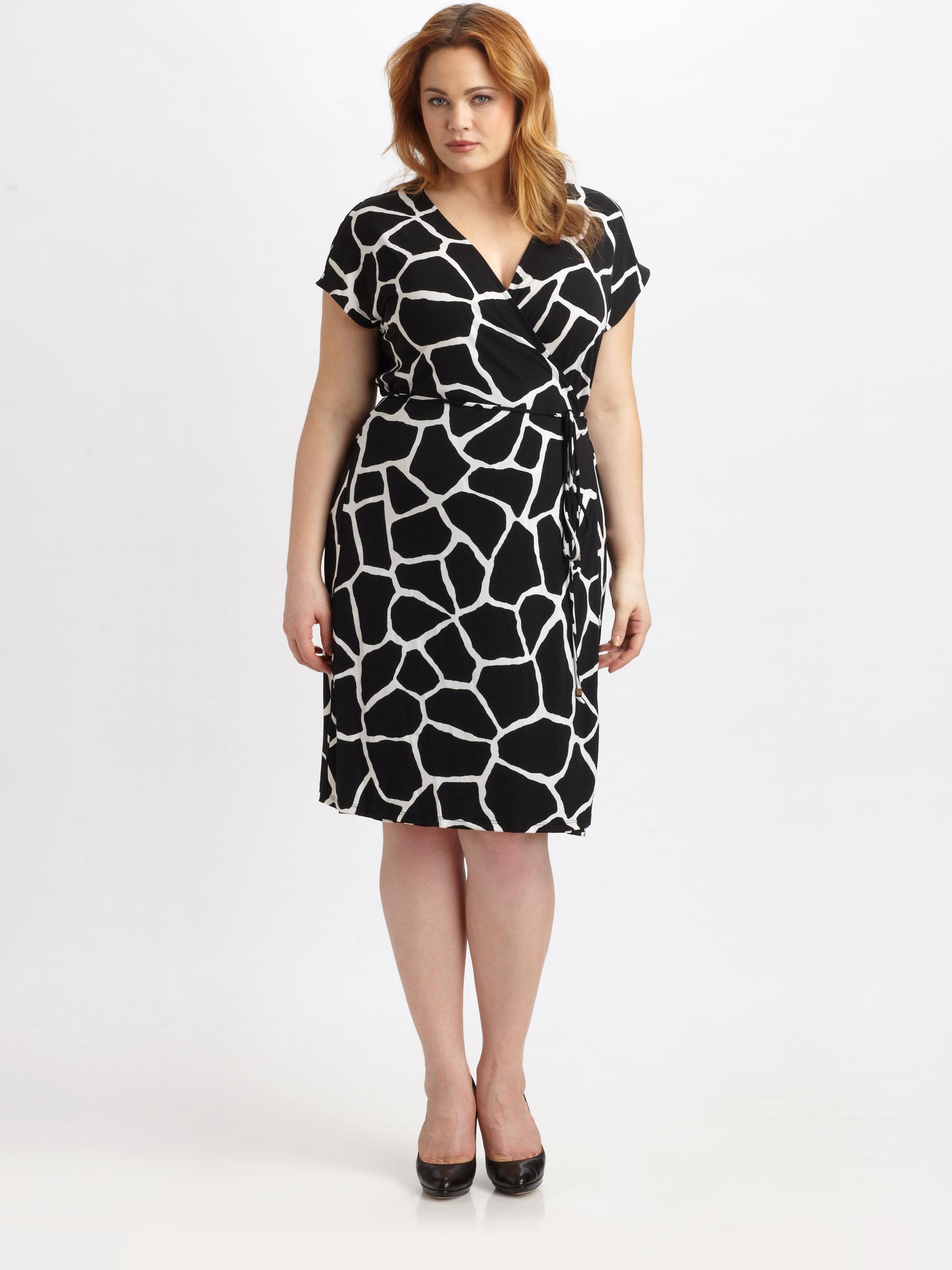 Michael Michael Kors Giraffe Print Jersey Wrap Dress In