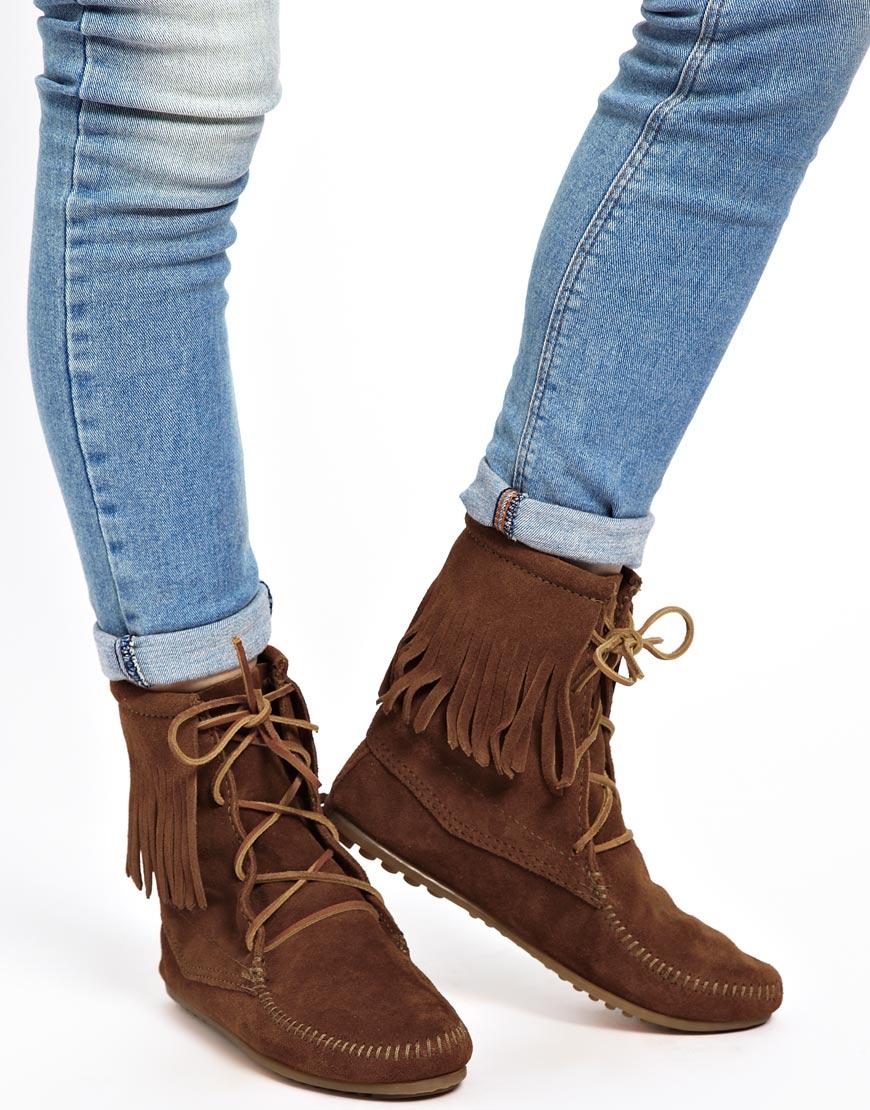 Minnetonka Womens Tramper Ankle Hi Boot Women Shoes