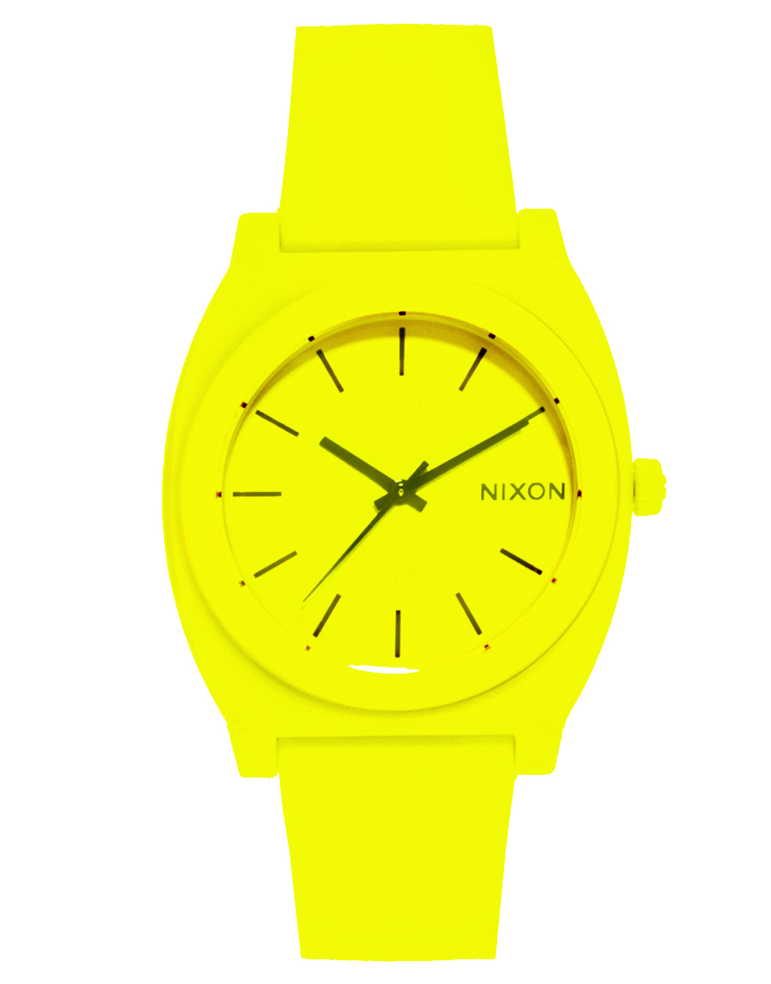 Lyst - Nixon Time Teller P Neon Yellow Watch in Yellow
